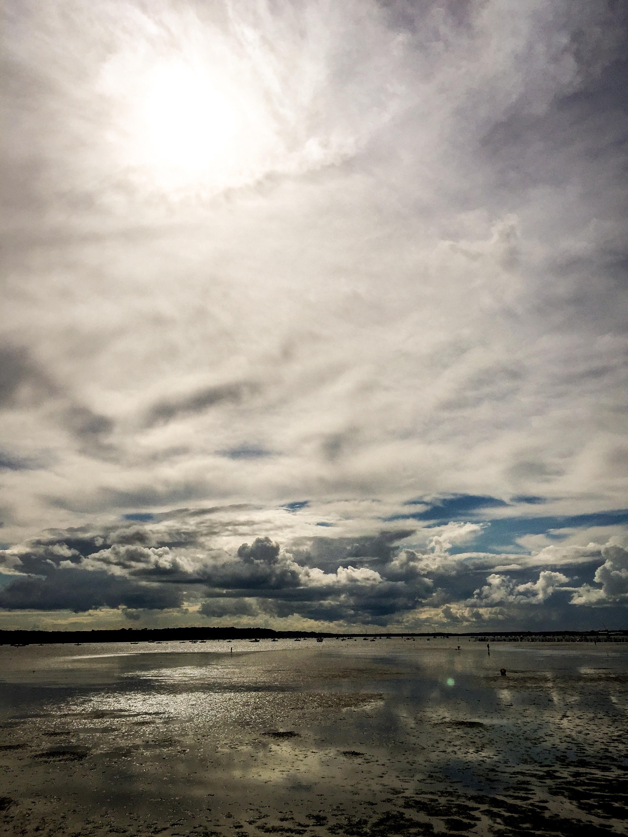 The IPhone shot of Sanbanks edited in Lightroom Mobile