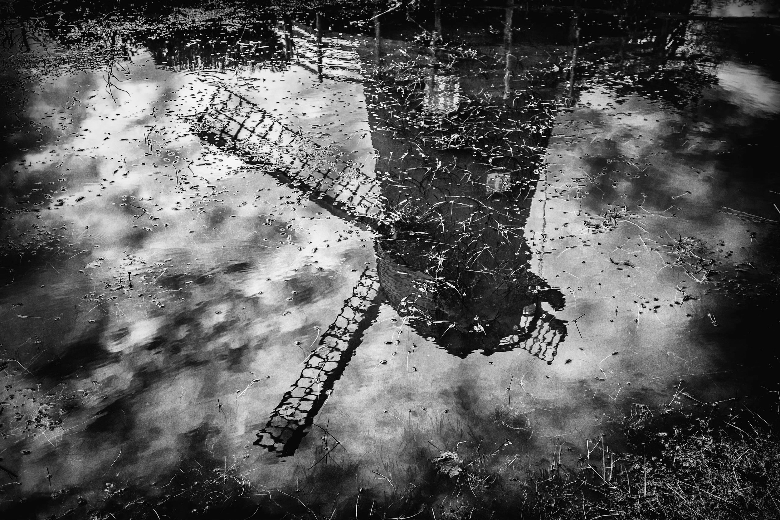 Picture of the reflection of a windmill, Bursledon, by Hampshire Photographer Rick McEvoy