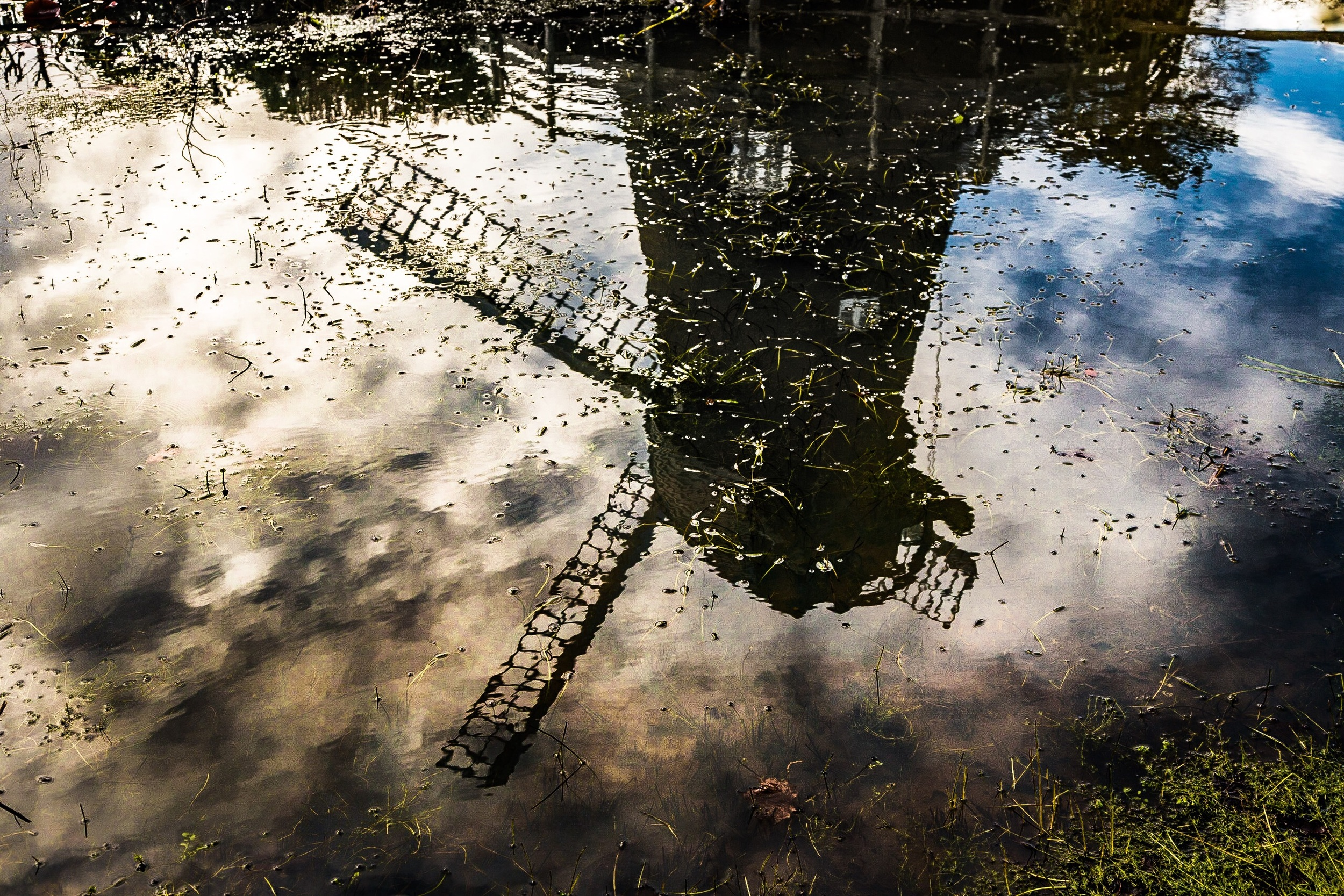 Picture of the reflection of a windmill, Bursledon, Hampshire