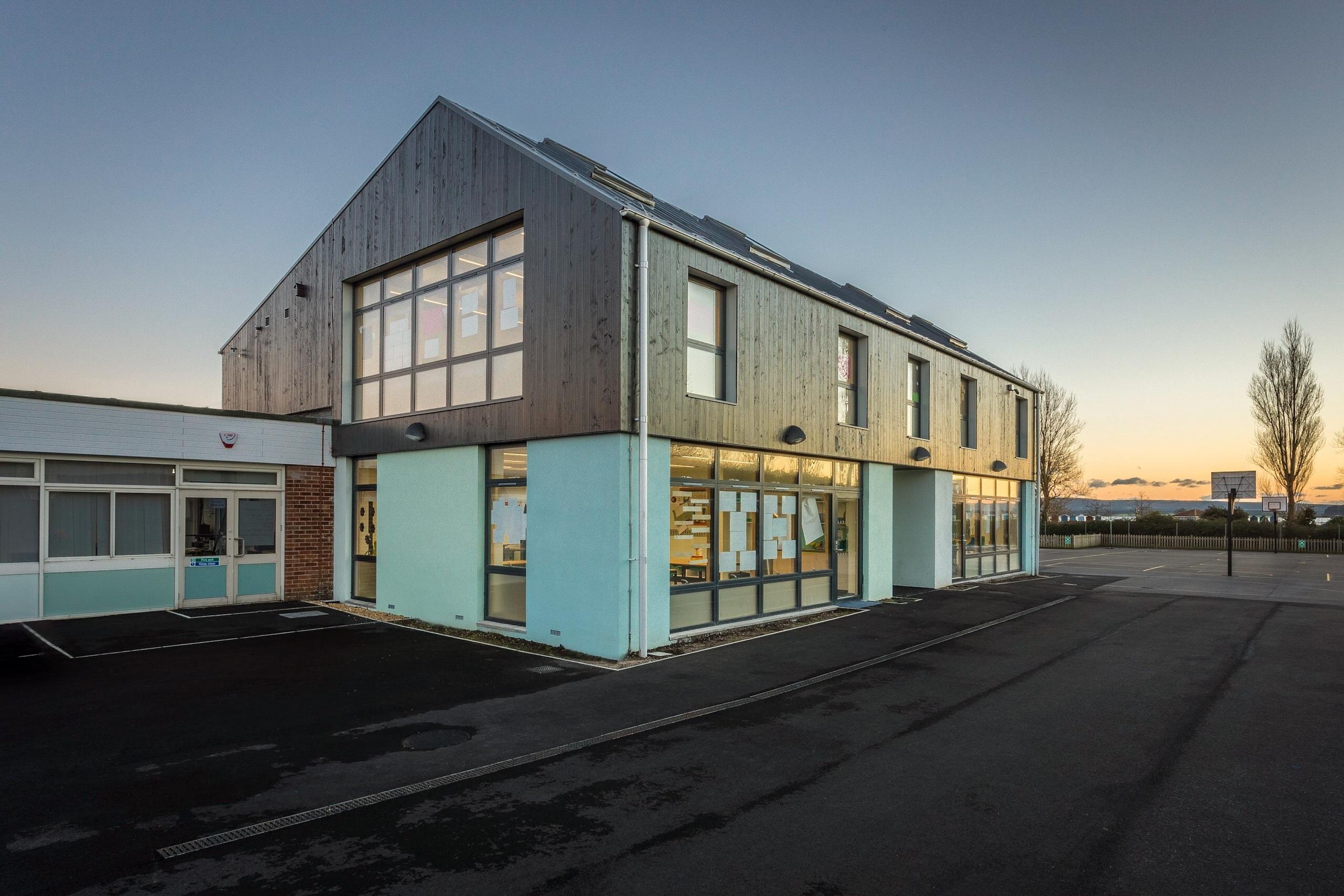 Hamworthy Park Junior School, Poole, Dorset, photographed for the architect Kendall Kingscott