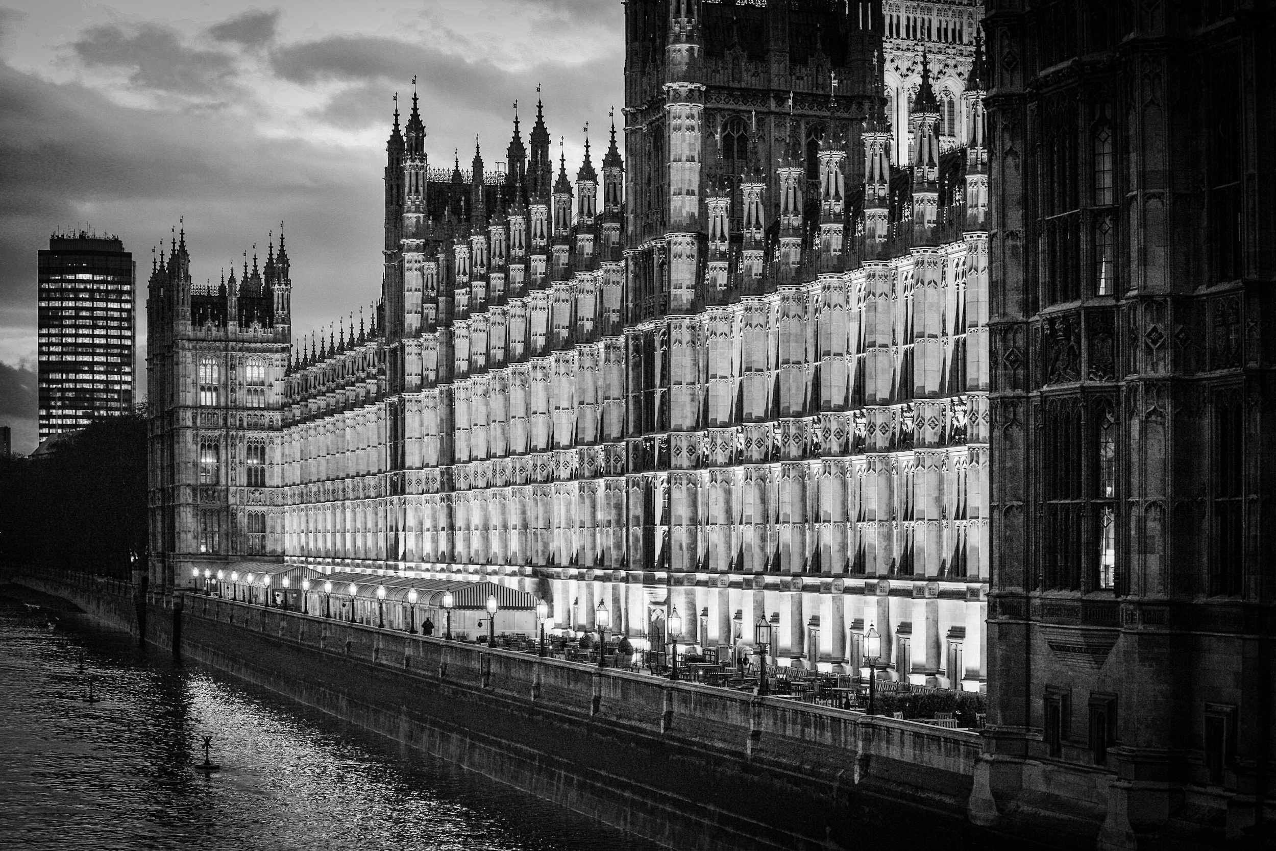 House of Commons meeting here now at the Palace of Westminster