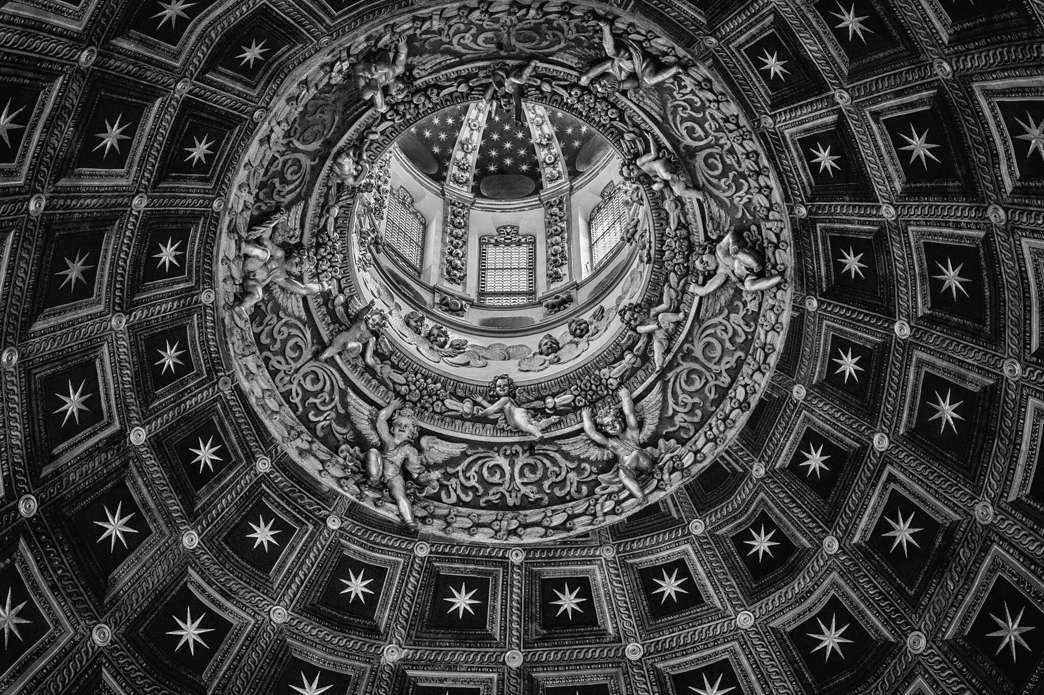 Picture of the ceiling of the Duomo in Siena