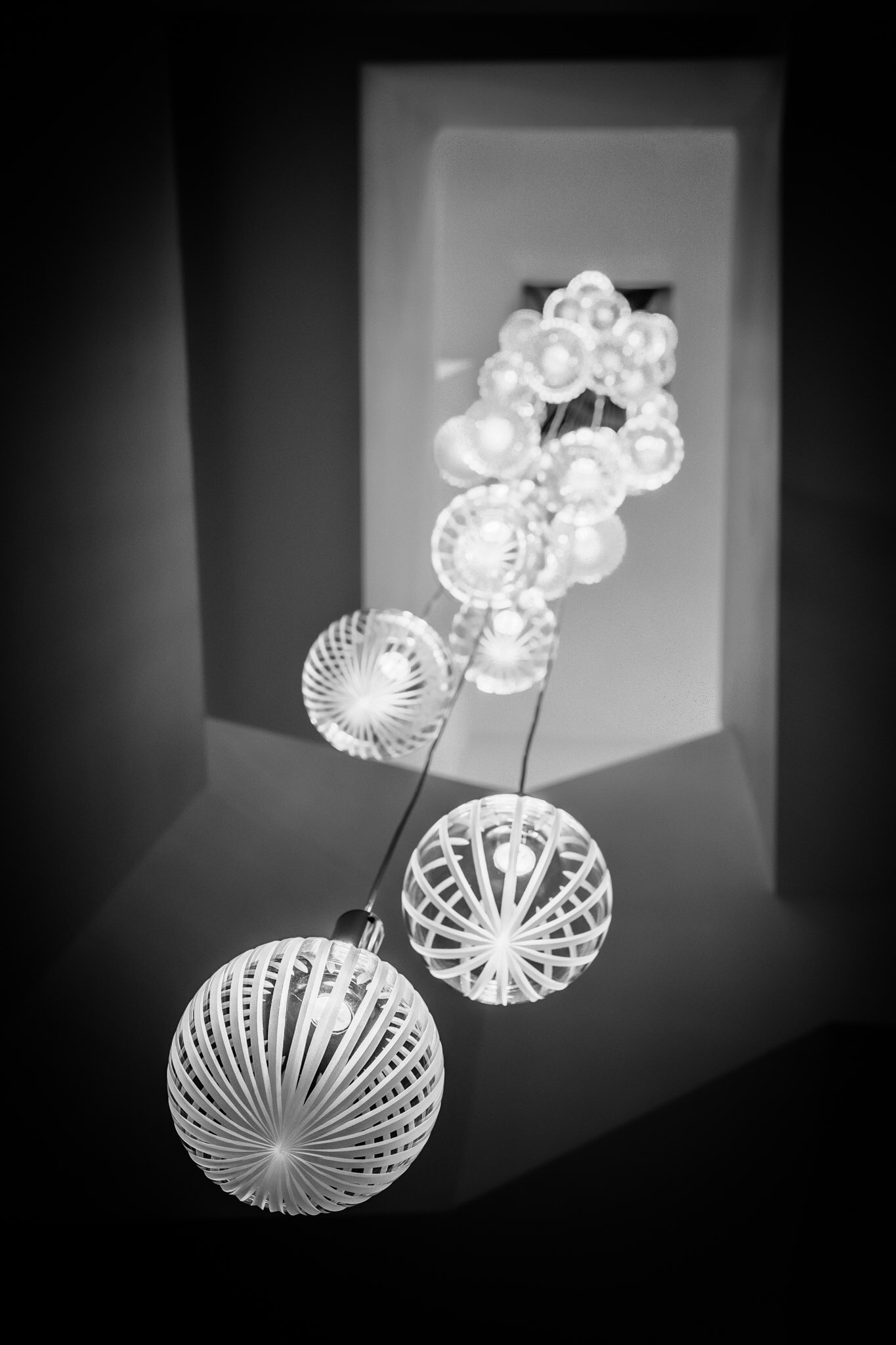 Picture of a chandelier in a house in Poole - estate agent photography by Rick McEvoy