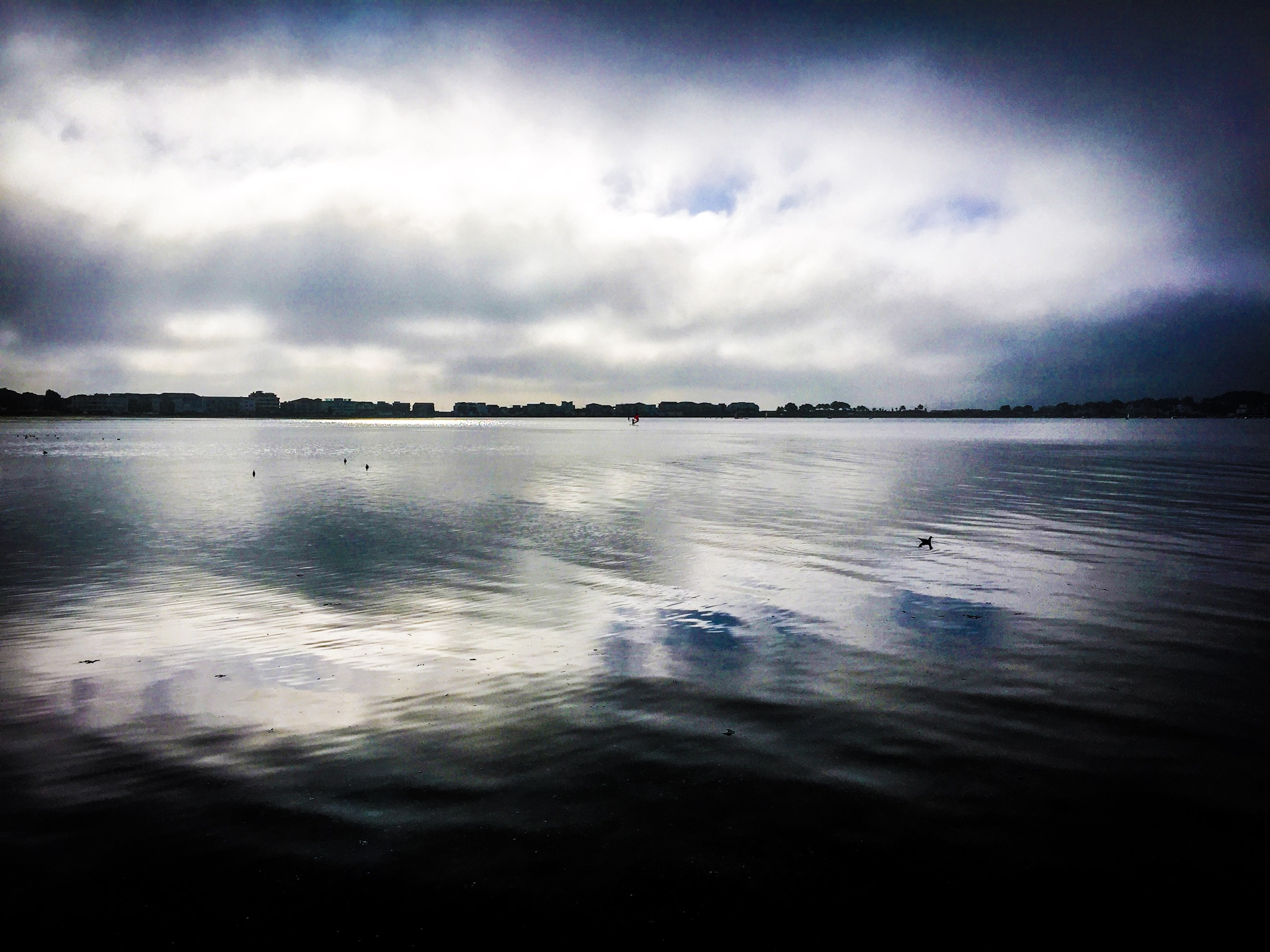 The view of Sandbanks, Poole, Dorset taken on my IPhone
