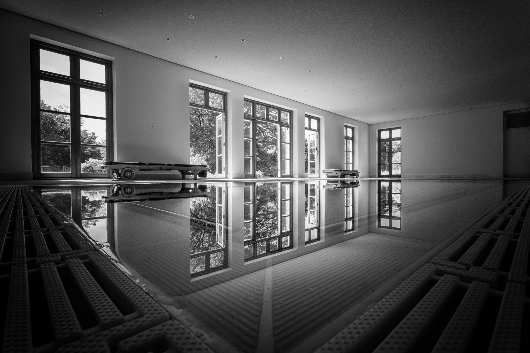 Swimming pool in a lovely private country house in Dorset