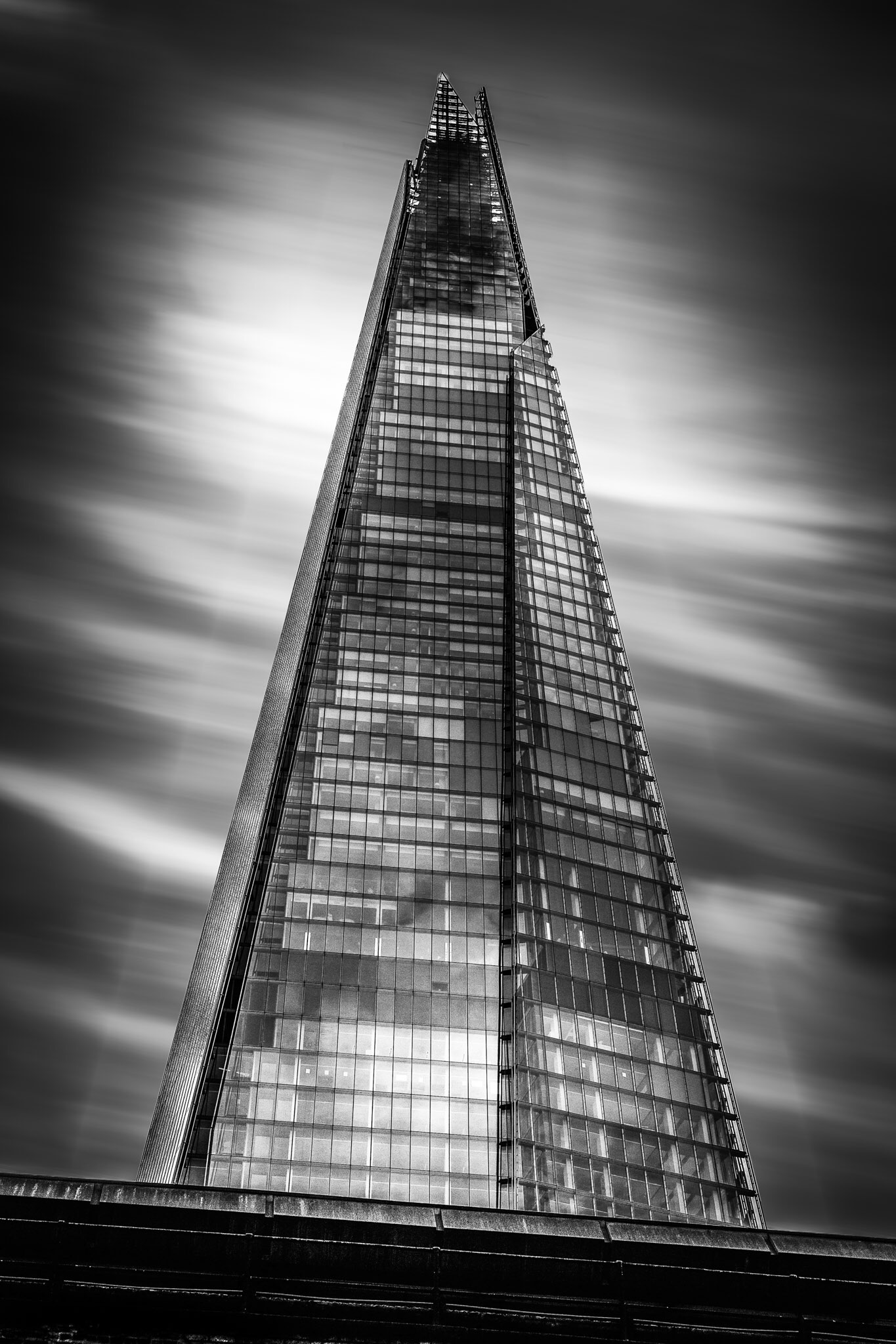 This picture of The Shard in London is one of my favourite black and white pictures of London