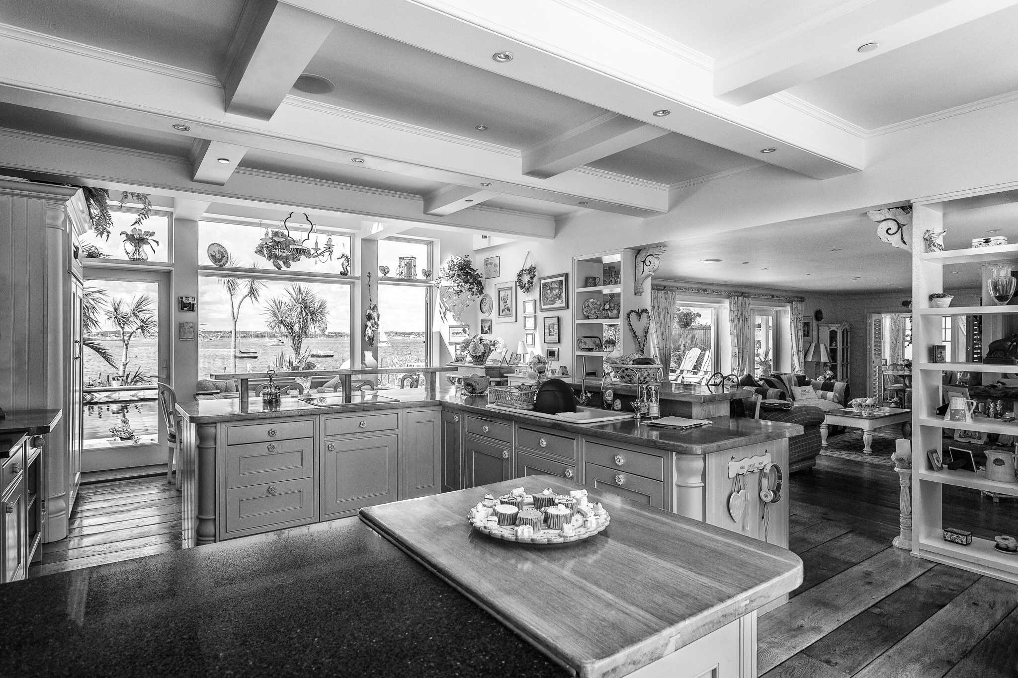 A lovely waterside kitchen with a view of Poole Harbour - the most expensive bit of estate agent photography I never did!