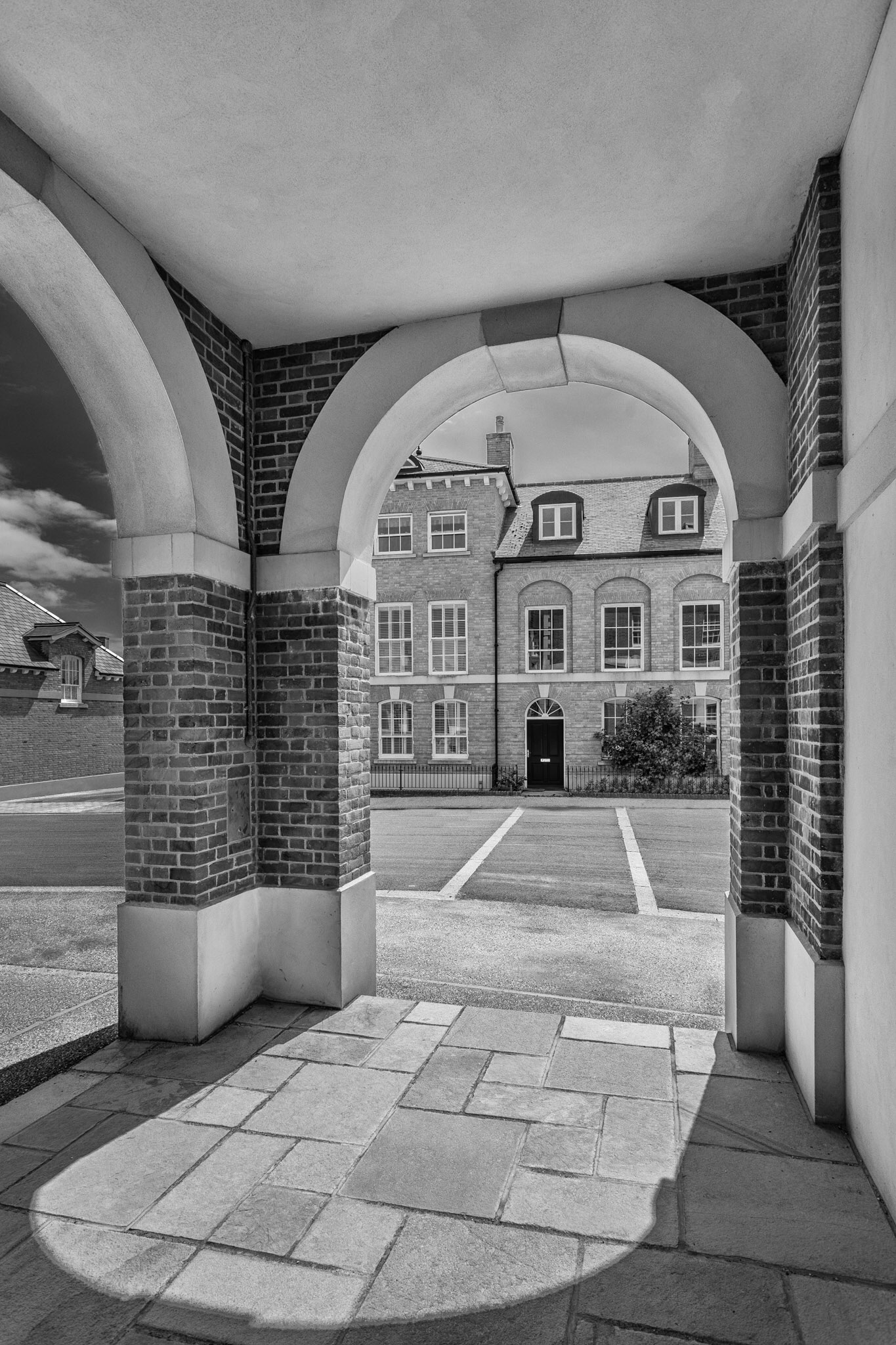 Another picture of Poundbury architecture in Dorset