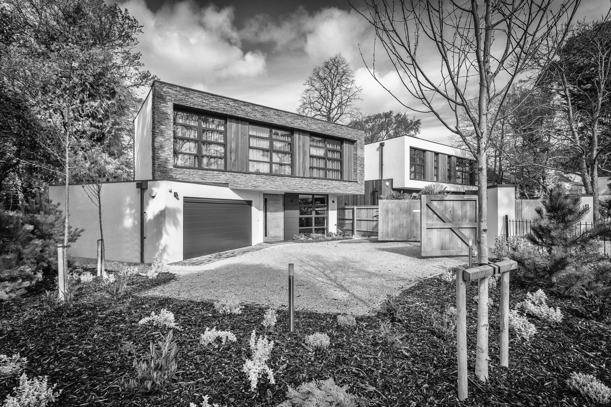 Picture of a private housing development, Poole, Dorset