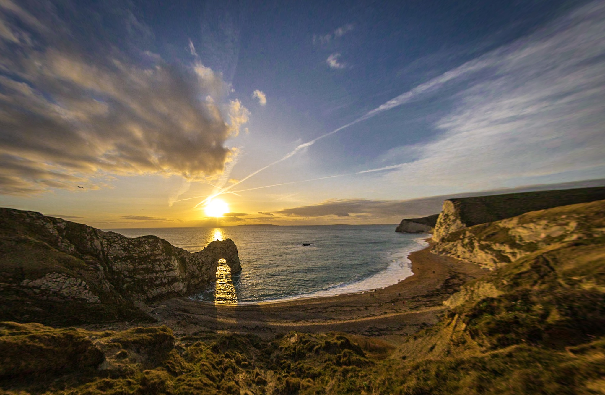 Durdle Door just before sunset
