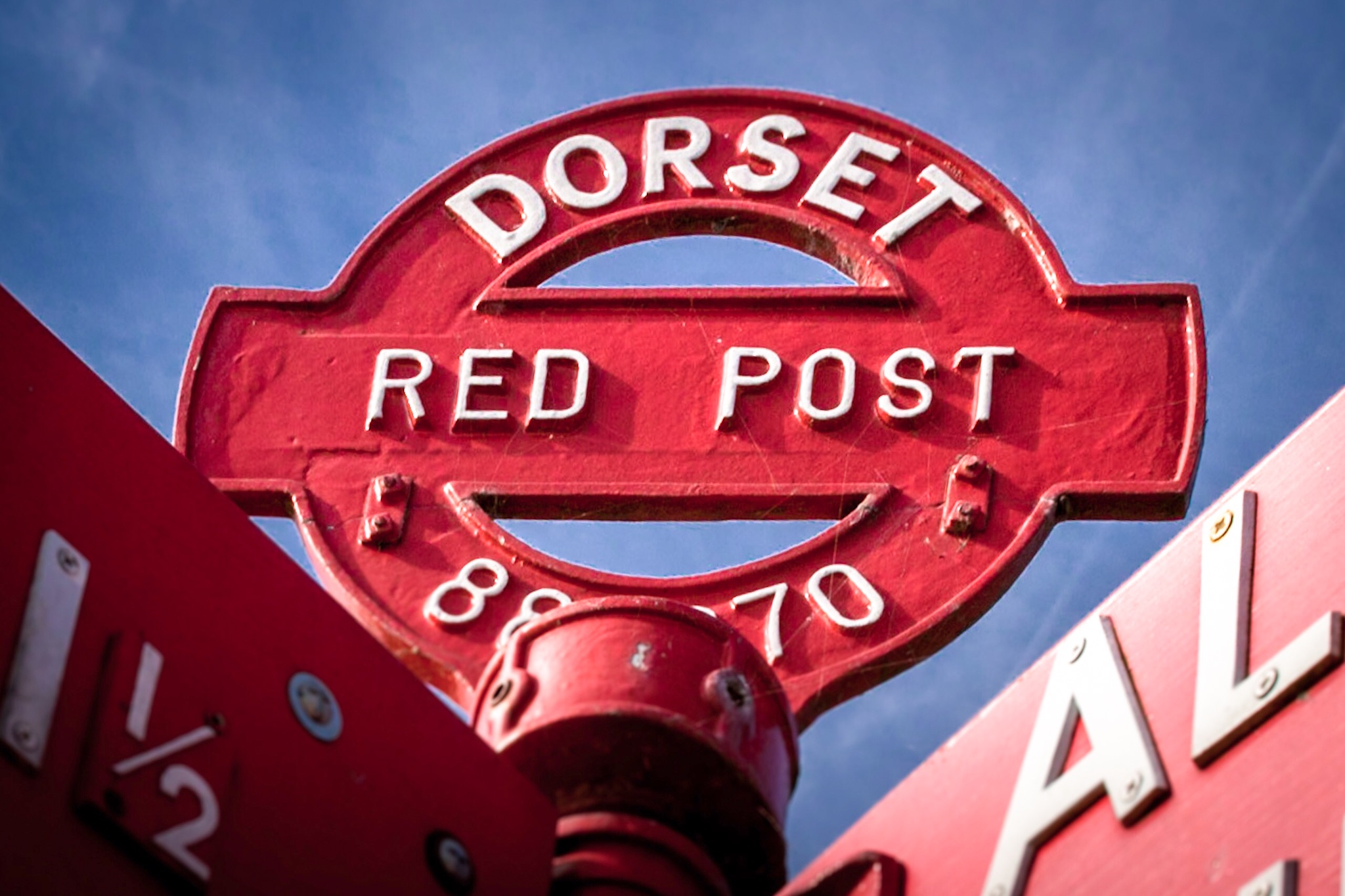 Picture of a Dorset Red Post - landscape photography in Dorset by Rick McEvoy