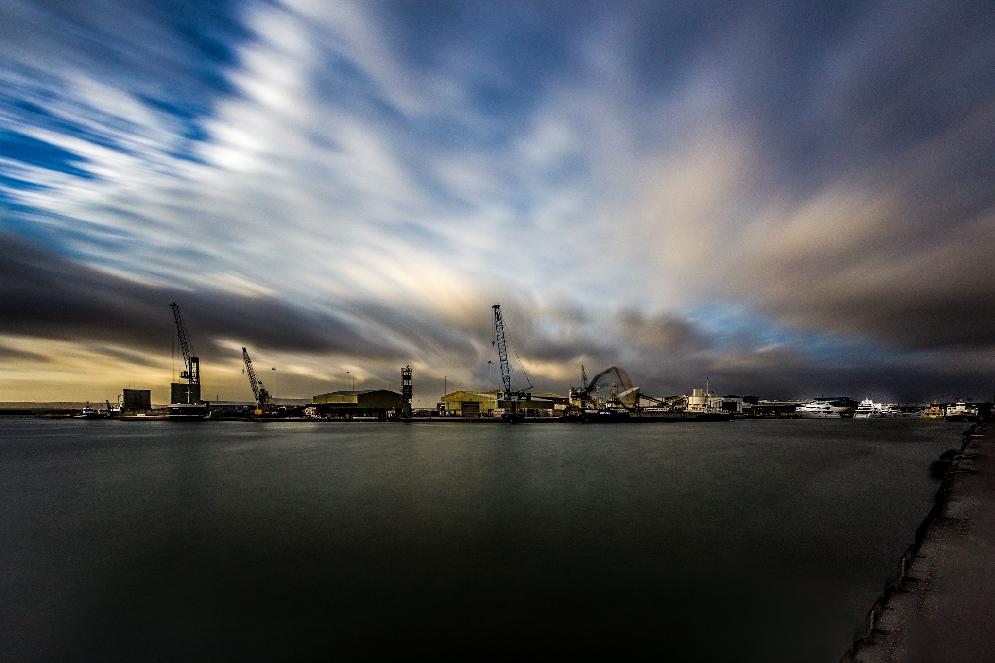 Picture of the Port of Poole by Rick McEvoy Industrial Photographer