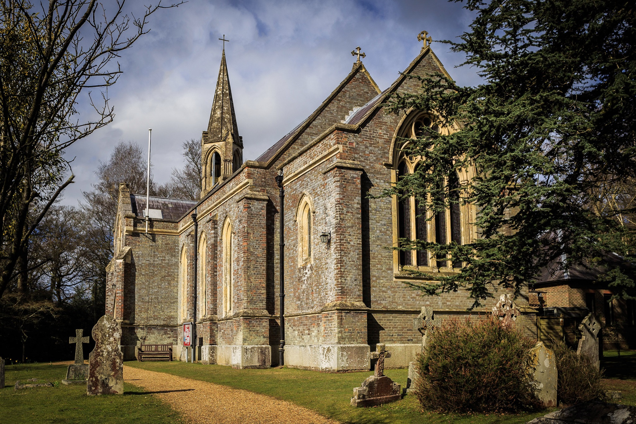 St Marks Church with tree removed