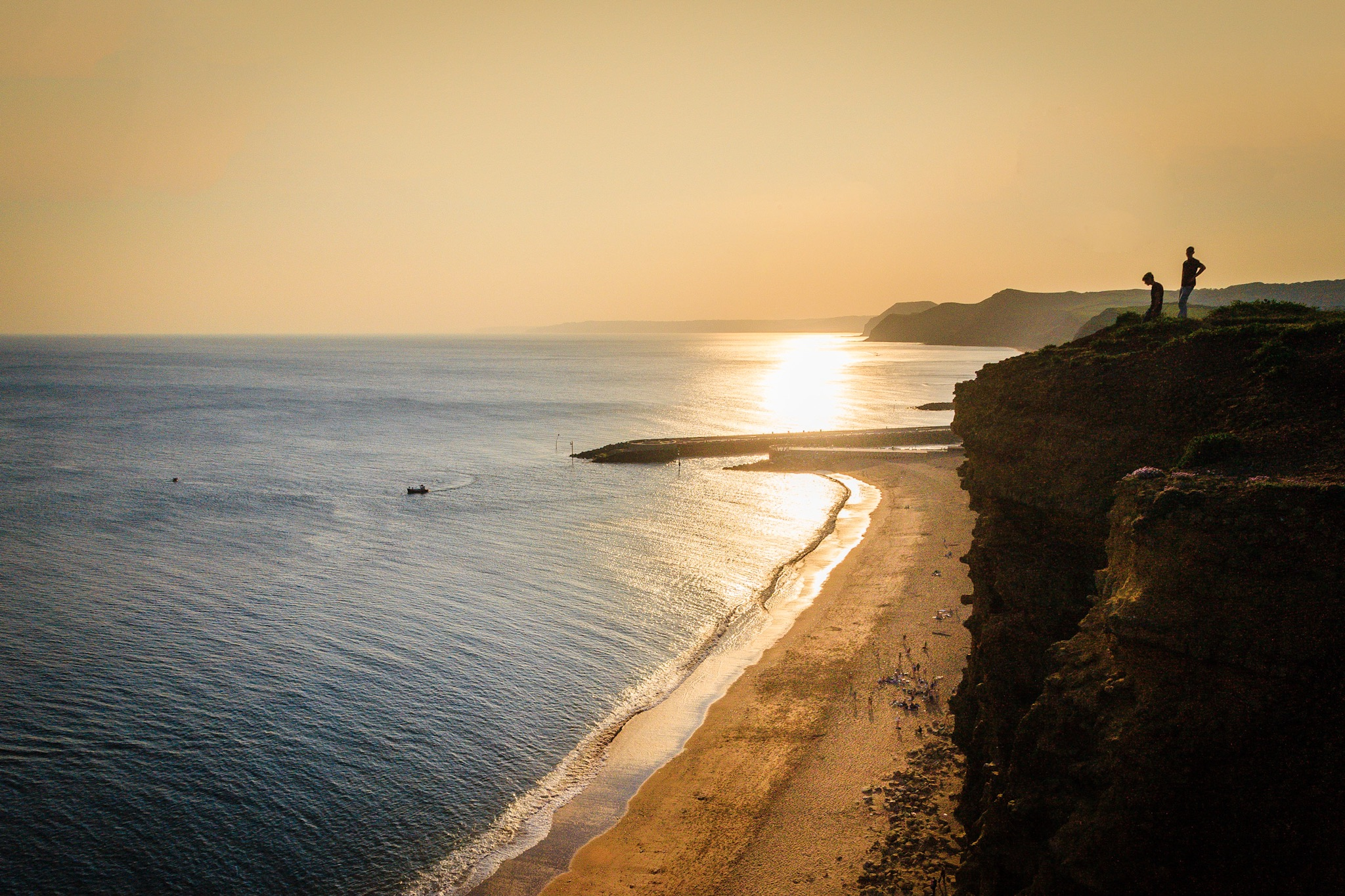 The beach at West Bay - landscape photography in Dorset