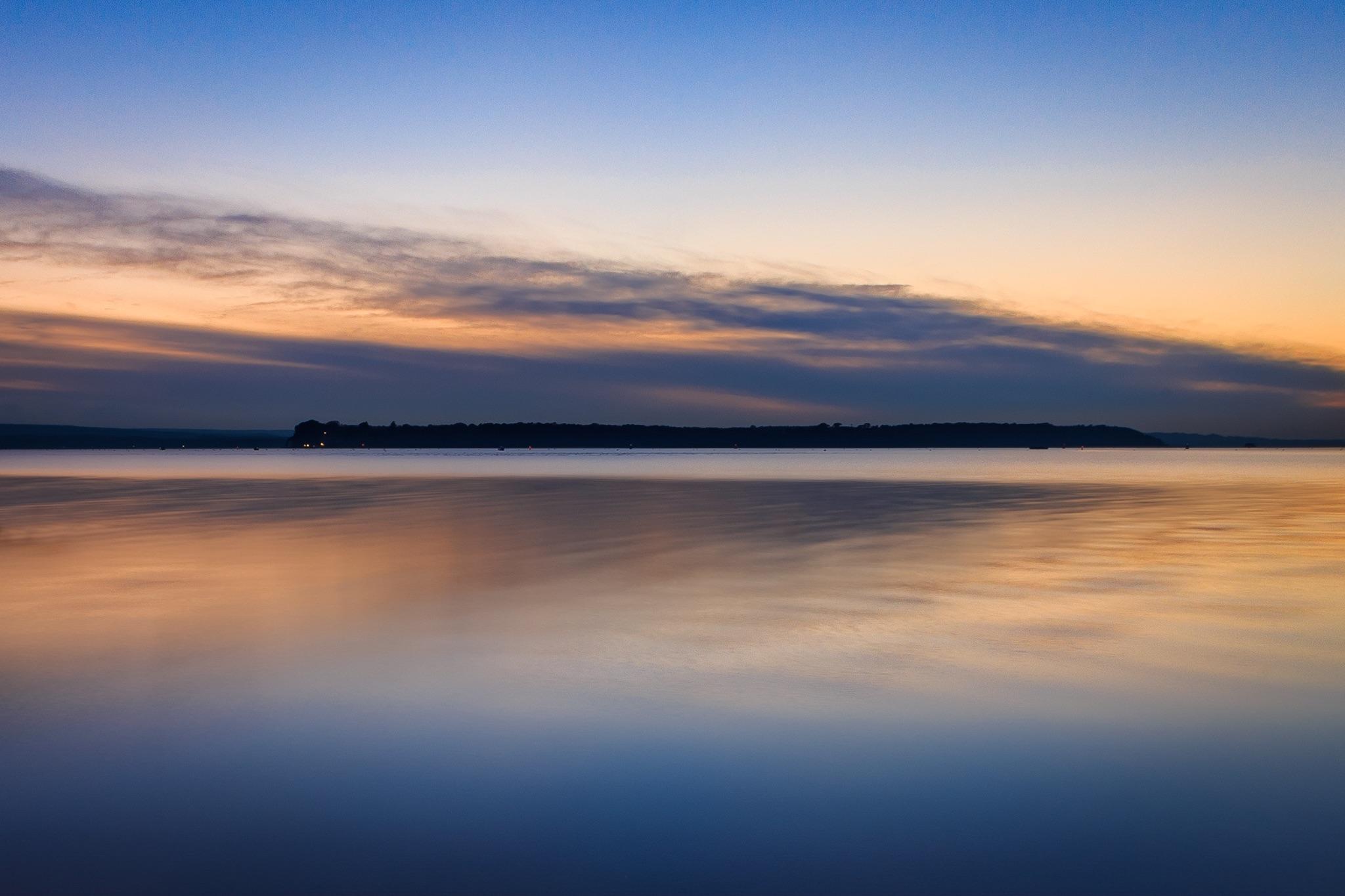 Brownsea Island at sunset
