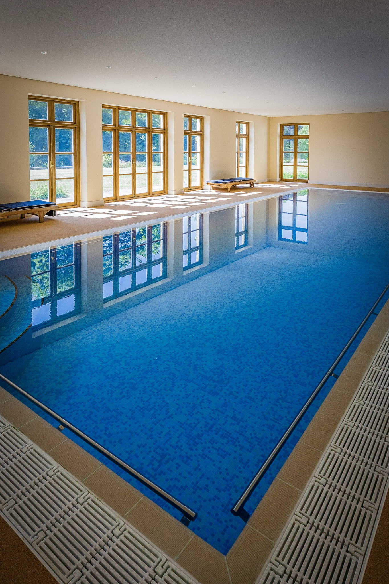 Swimming pool by Rick McEvoy interior photographer in Dorset