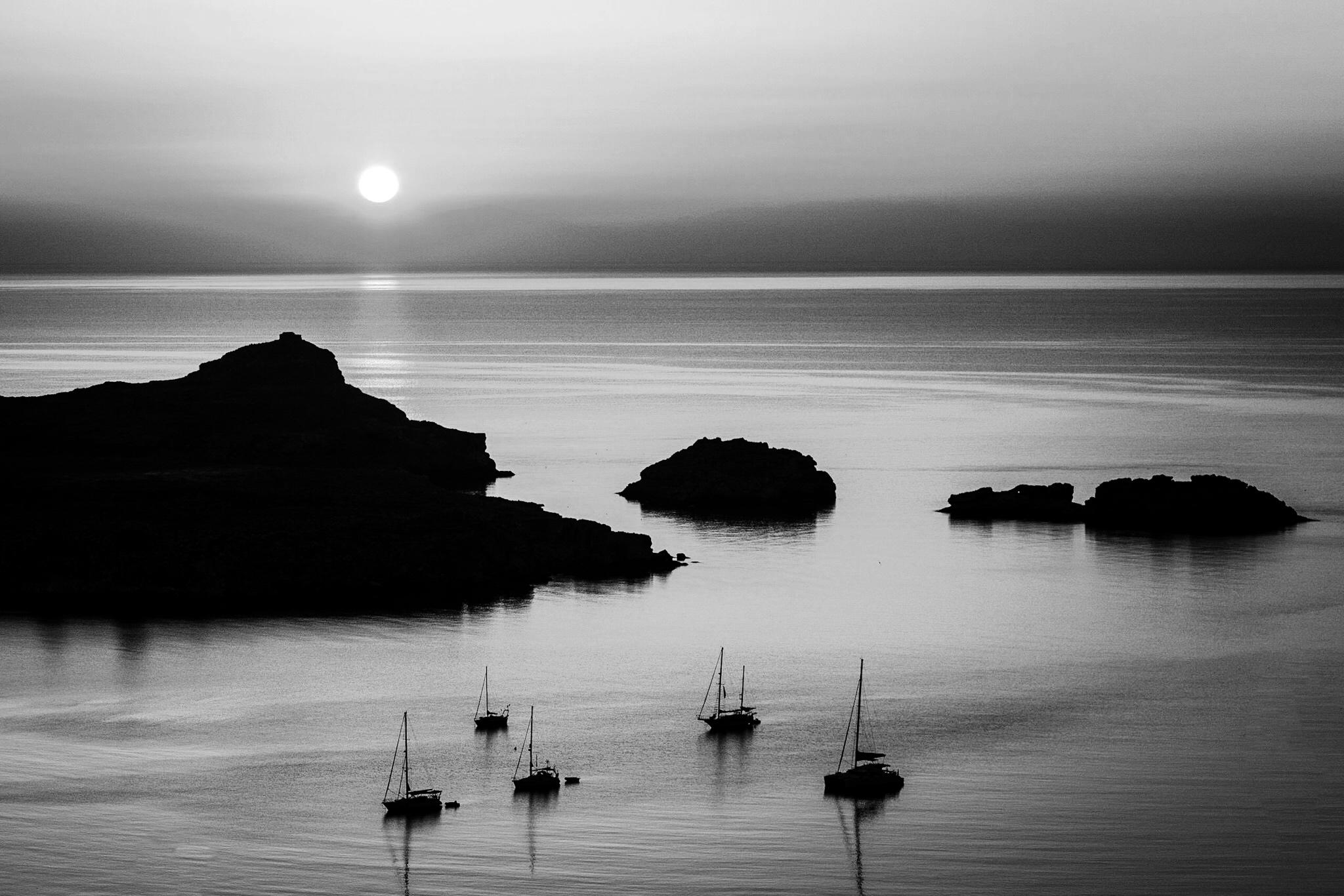 Sunrise at Lindos by travel photographer Rick McEvoy