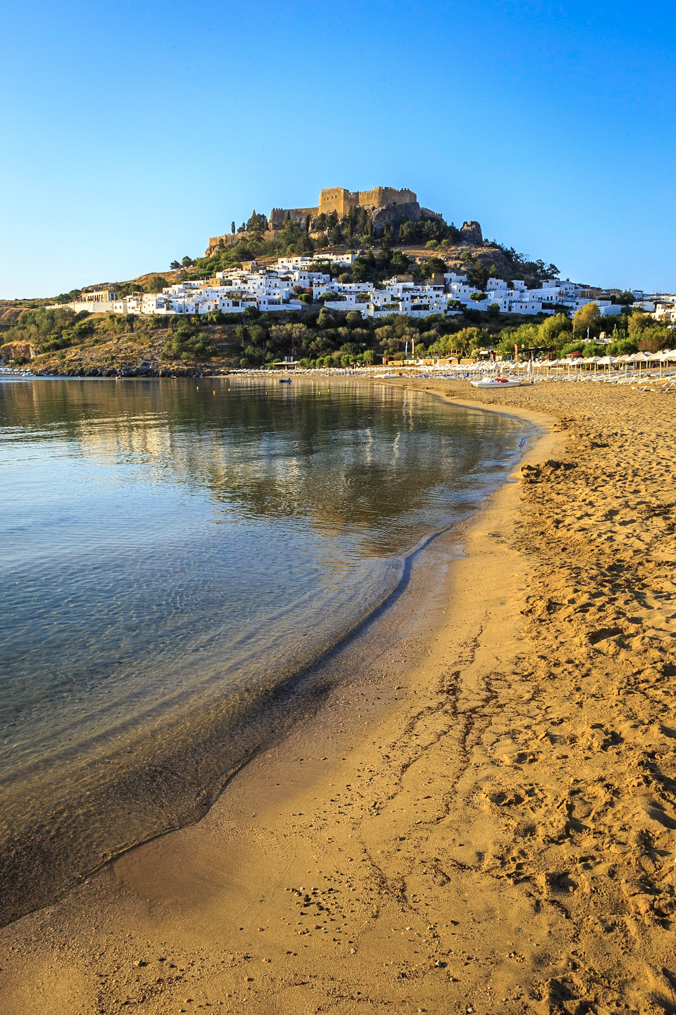 The Acropolis and Lindos beach by Rick McEvoy travel photographer