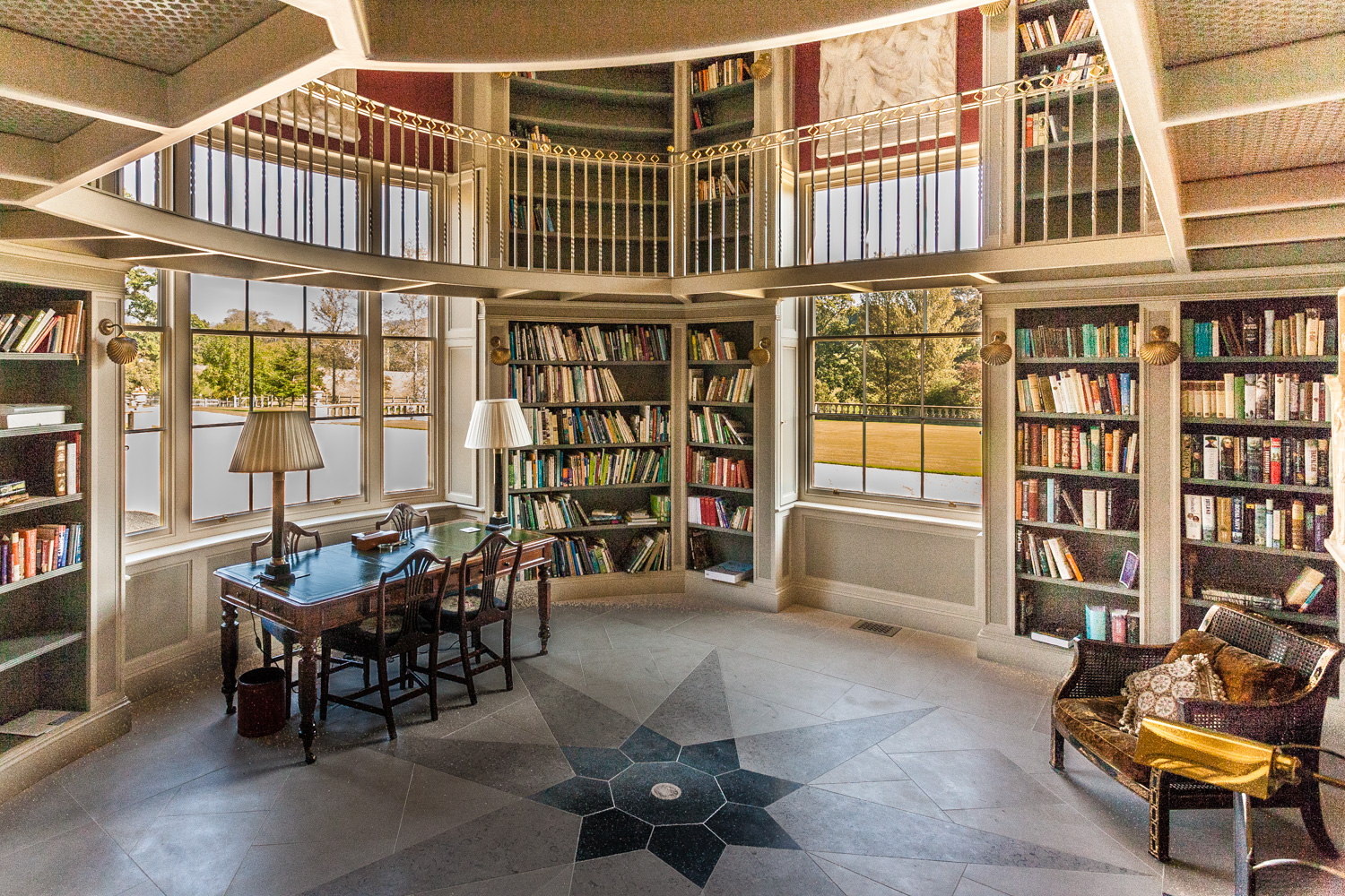 A stunning private libray by Rick McEvoy interior photographer