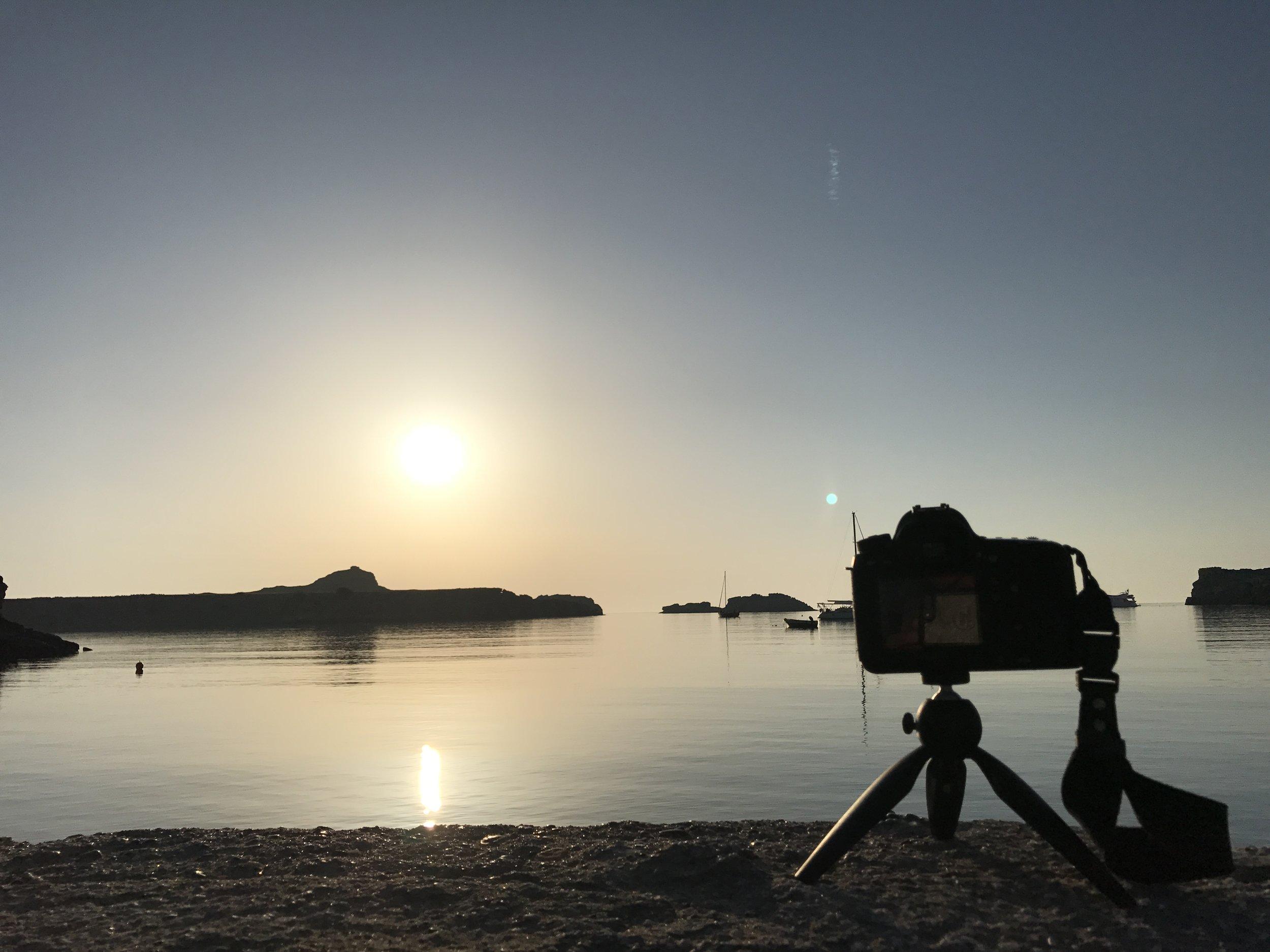 Sunrise at Lindos Beach by me, travel photographer Rick McEvoy