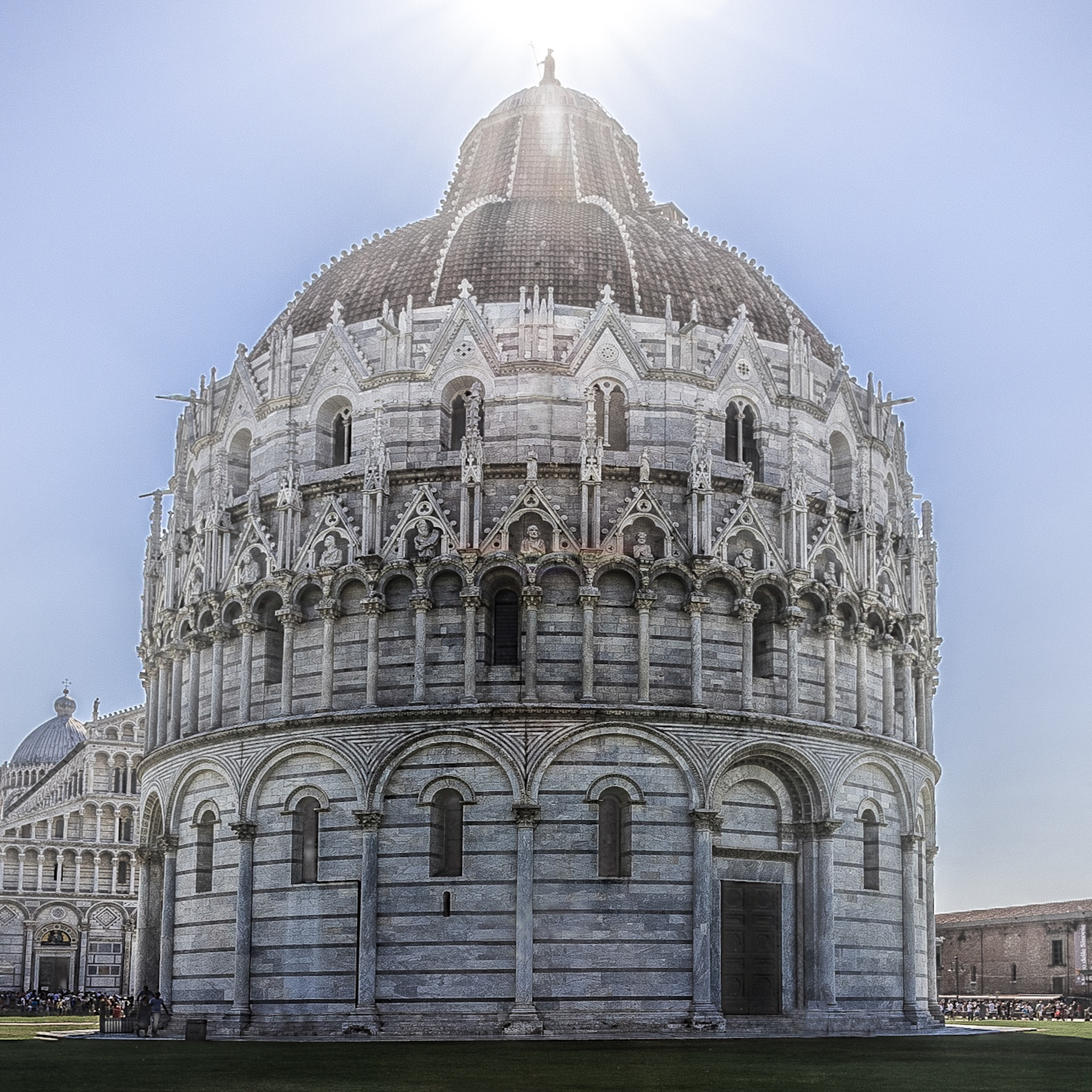 Crop of the Picture of the Battistero di San Giovanni In Pisa by Rick McEvoy Architectural Photographer