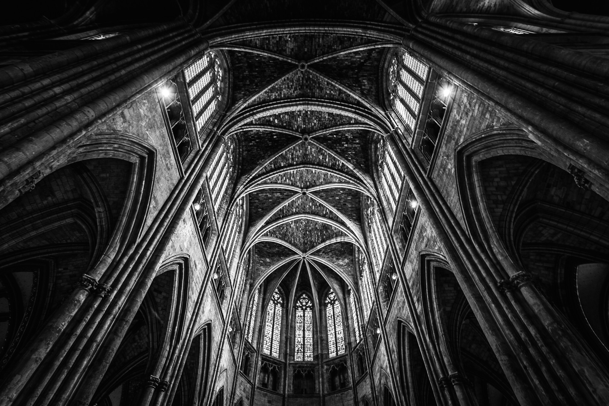Black and white architectural photography by Rick McEvoy