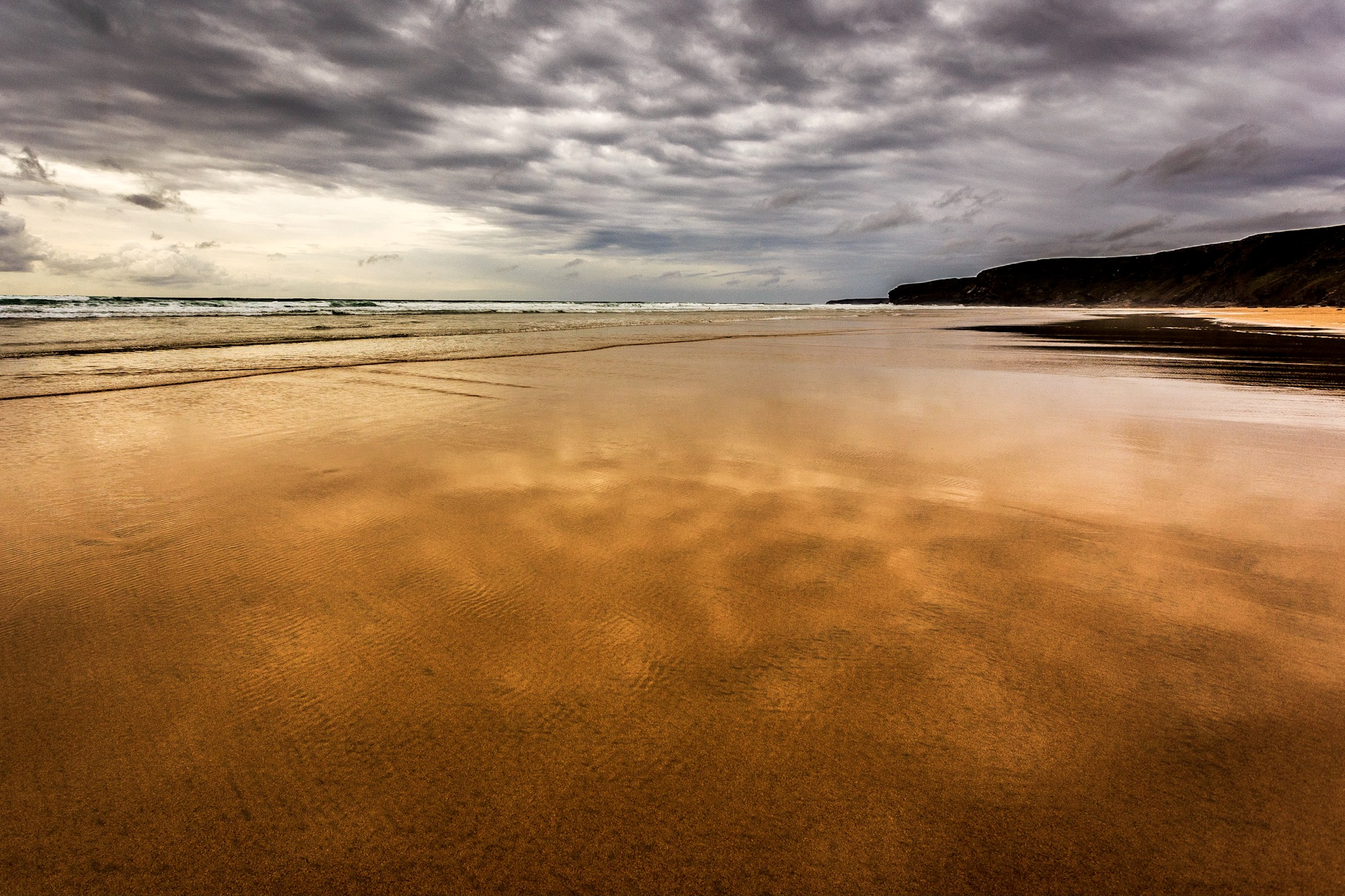 Lightroom edit of the picture of Watergate Bay beach