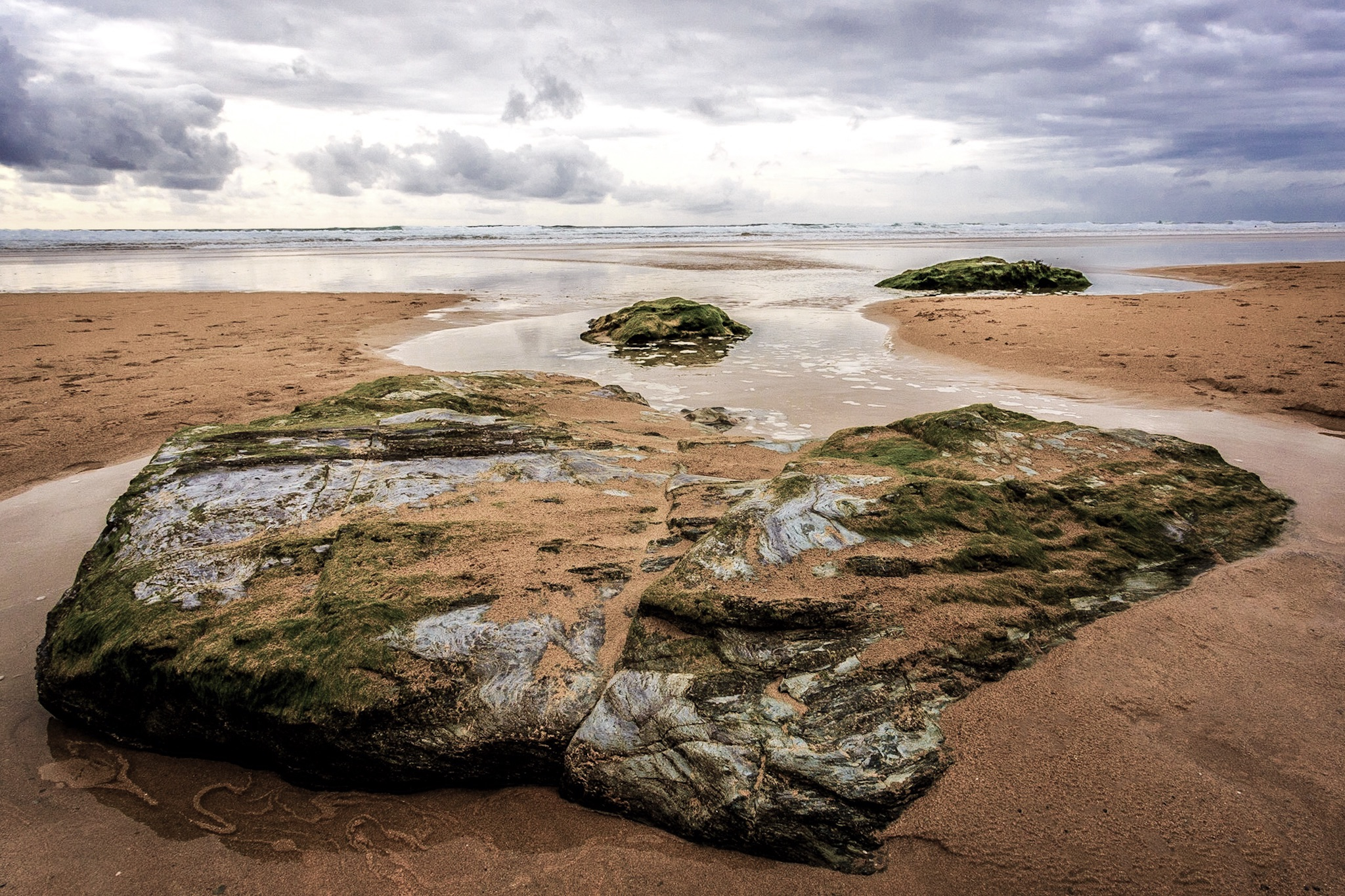 Picture of Watergate Bay beach by Rick McEvoy landsacpe photographer in Cornwall