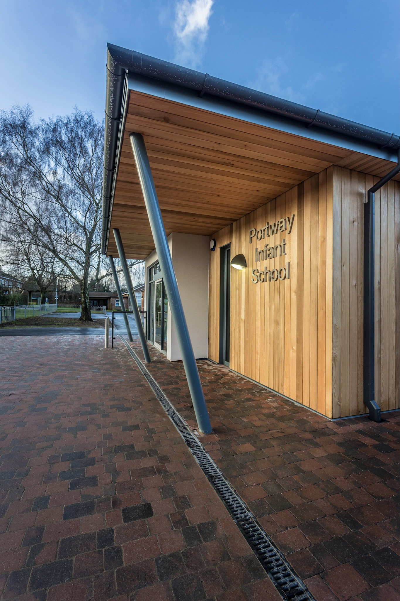 New entrance, school, Andover, by Rick McEvoy Architectural Photographer in Hampshire