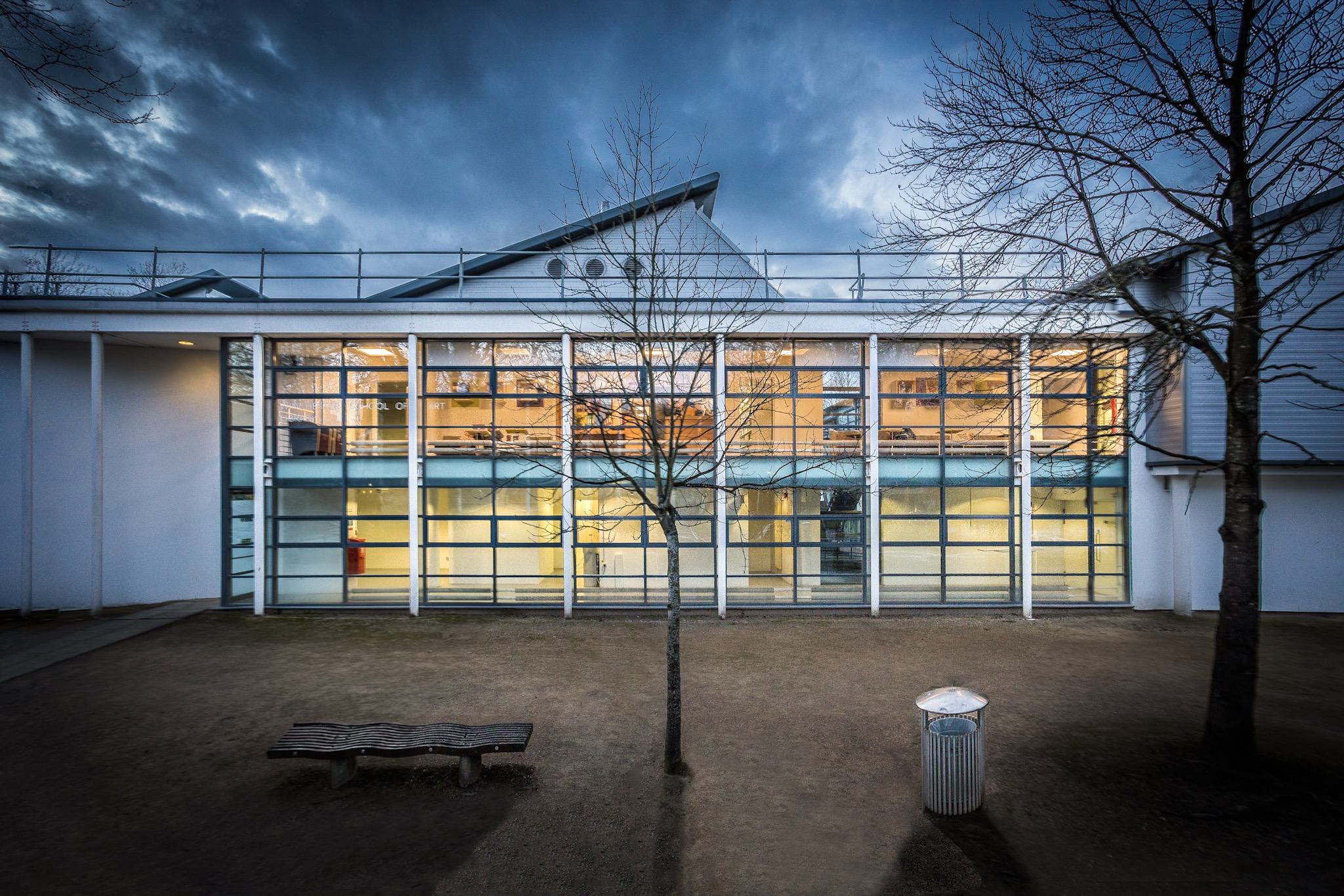 New entrance to the Winchester School of Art Library by Rick McEvoy Architectural Photographer in Hampshire