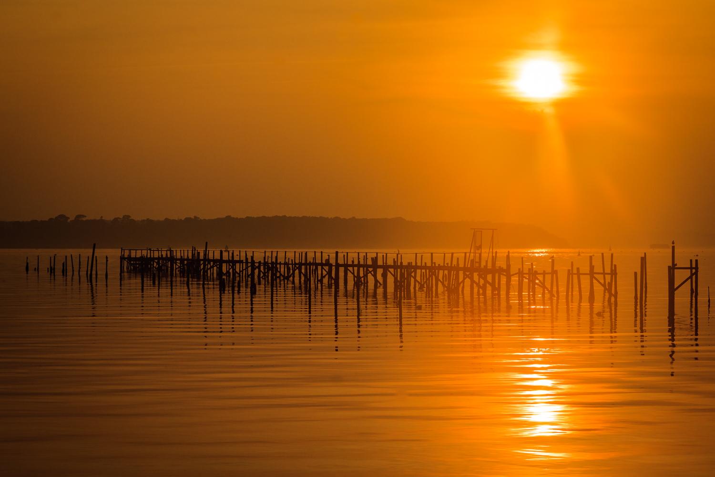 Sunset jetty by Rick McEvoy landscape photographer in Sandbanks