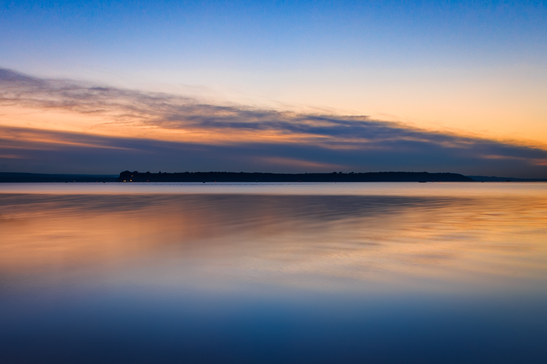 Sunset over Brownsea Island by Rick McEvoy landscape photographer in Sandbanks