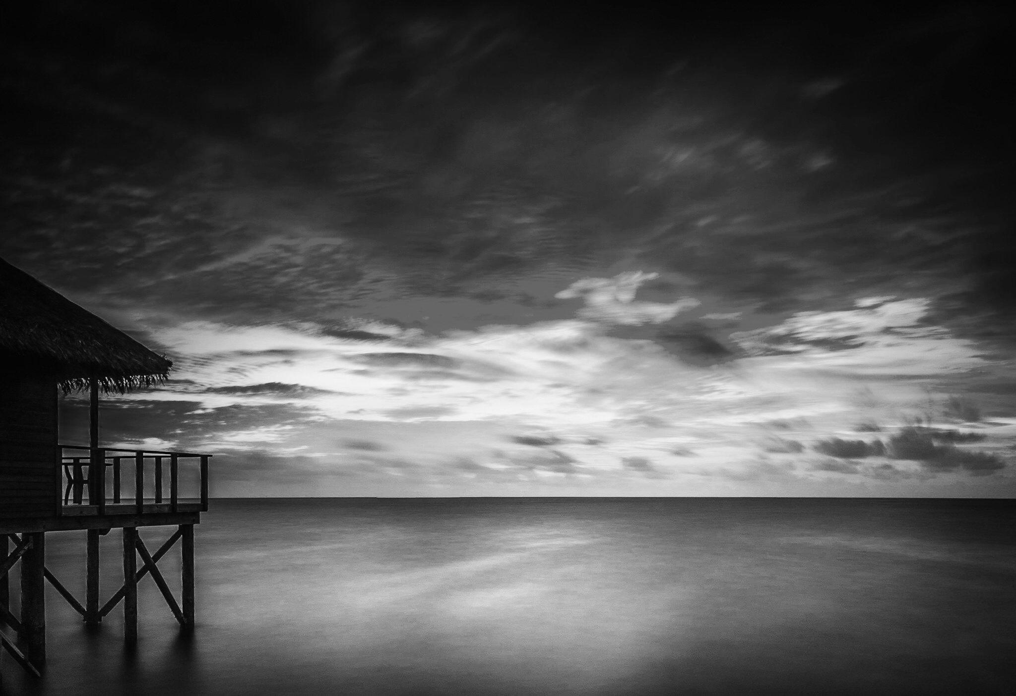 The Maldives in black and white by Rick McEvoy Photographer