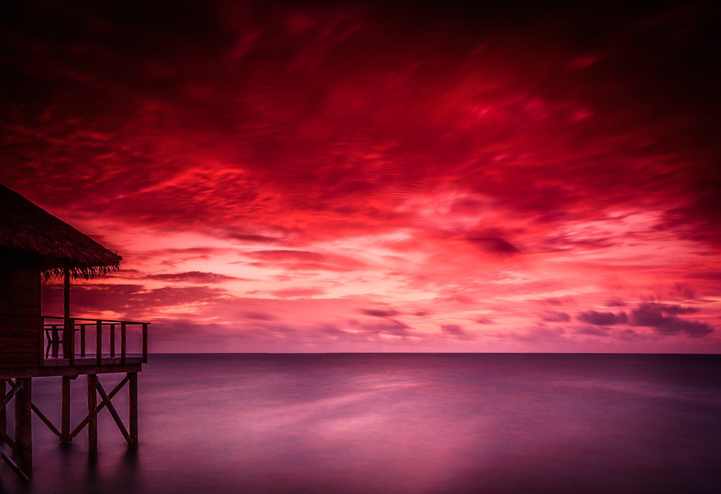 Maldives sunset by Rick McEvoy Travel Photographer