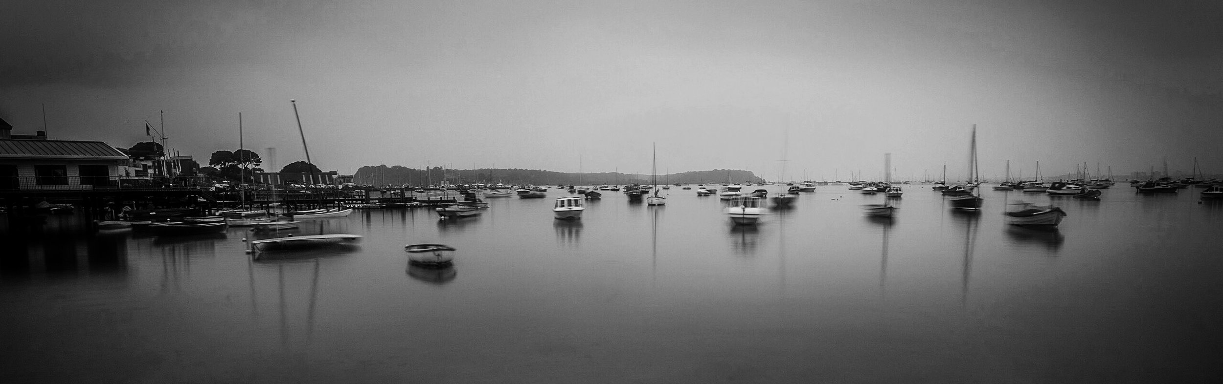 Finally the black and white picture of Sandbanks