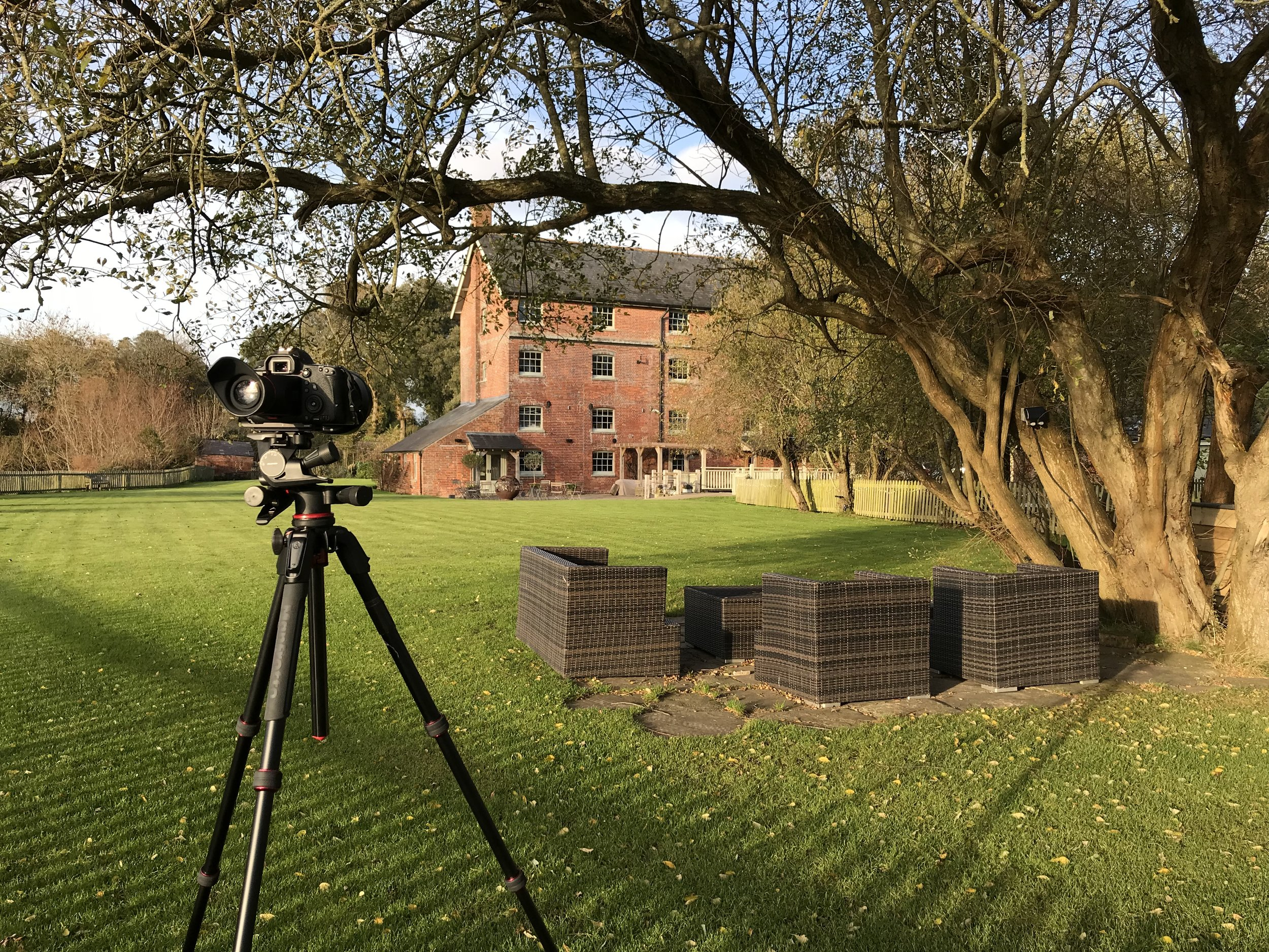 Sopley Mill being photographed by Rick McEvoy Photography