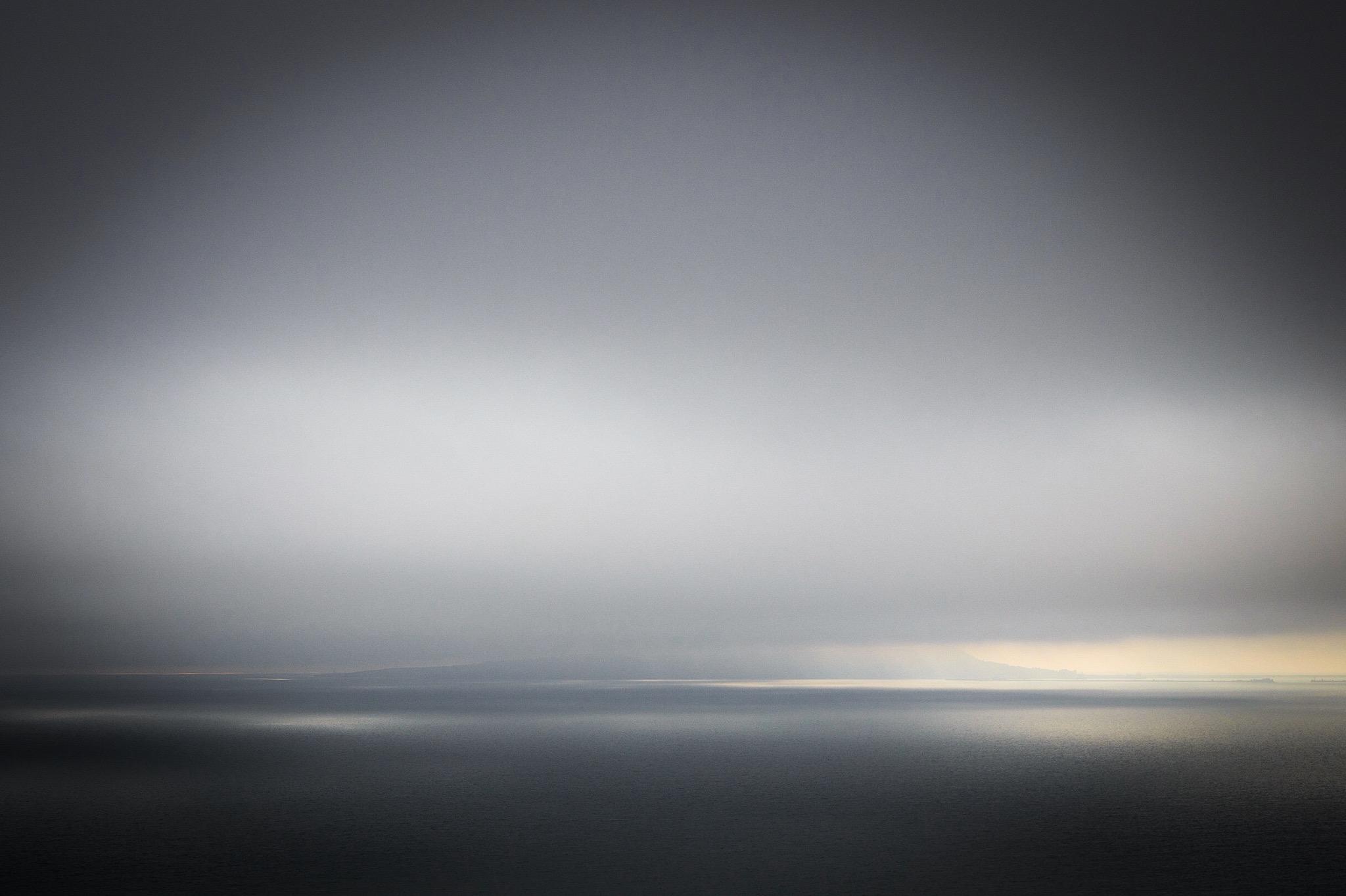 Portland in cloud by Rick McEvoy Dorset Photographer