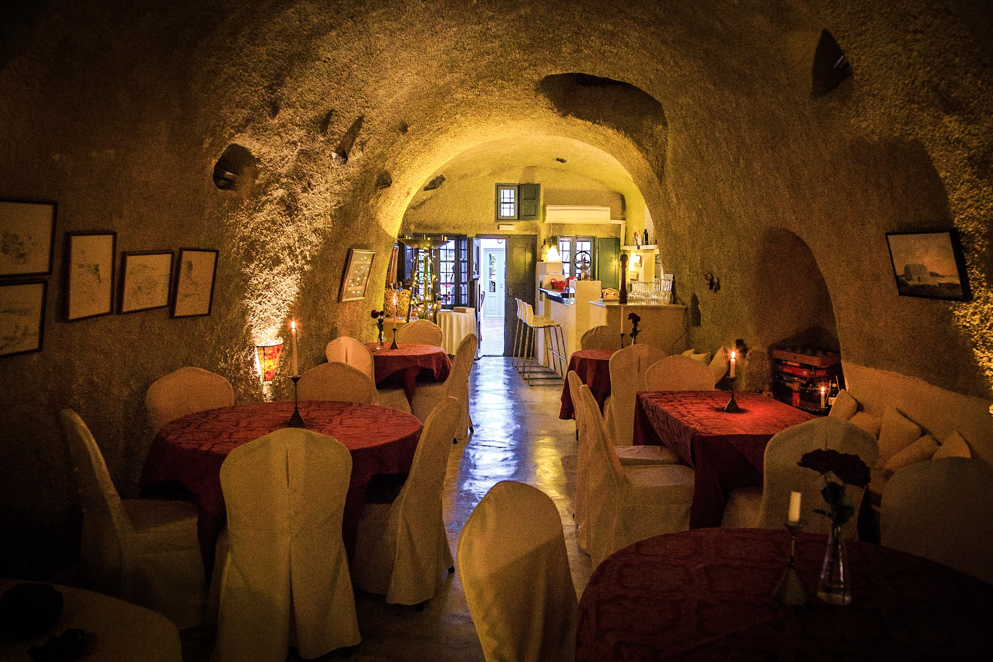 Photo of a wine bar interior, Santorini by Rick McEvoy Travel Photographer