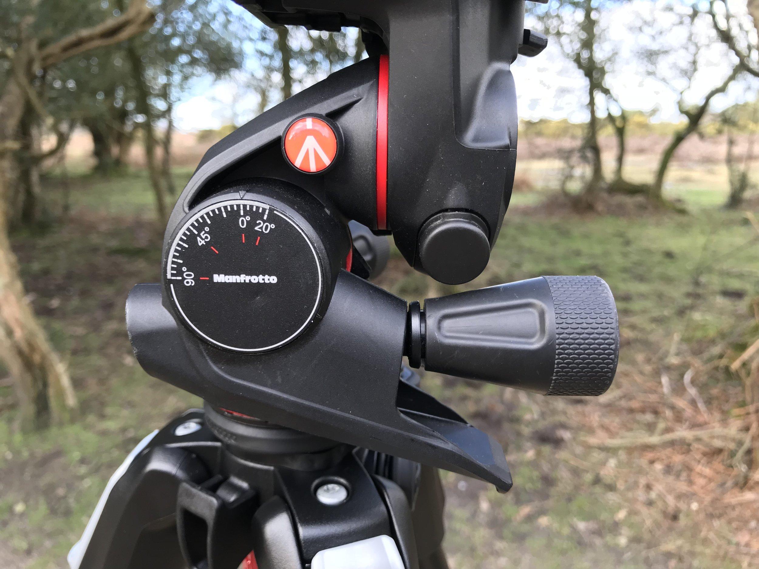 ManfrottoXPRO Geared Three-way pan/tilt tripod head
