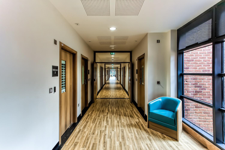 Hospital corridor, Poole, Dorset