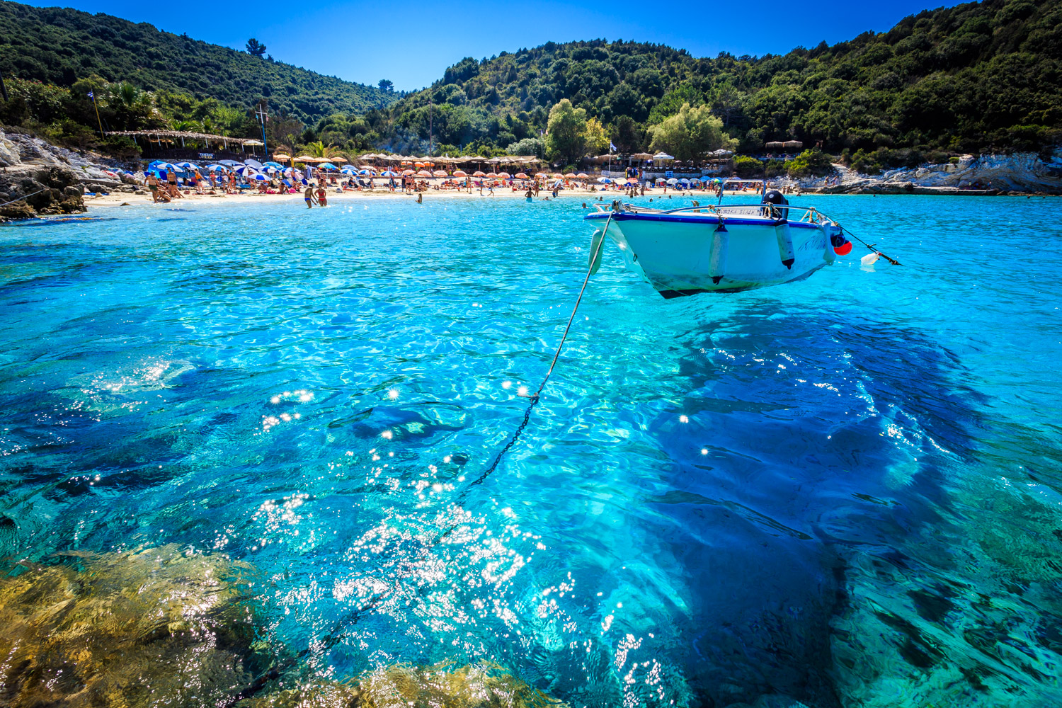 Vriak Beach, Antipaxos by Travel Photographer  Rick McEvoy