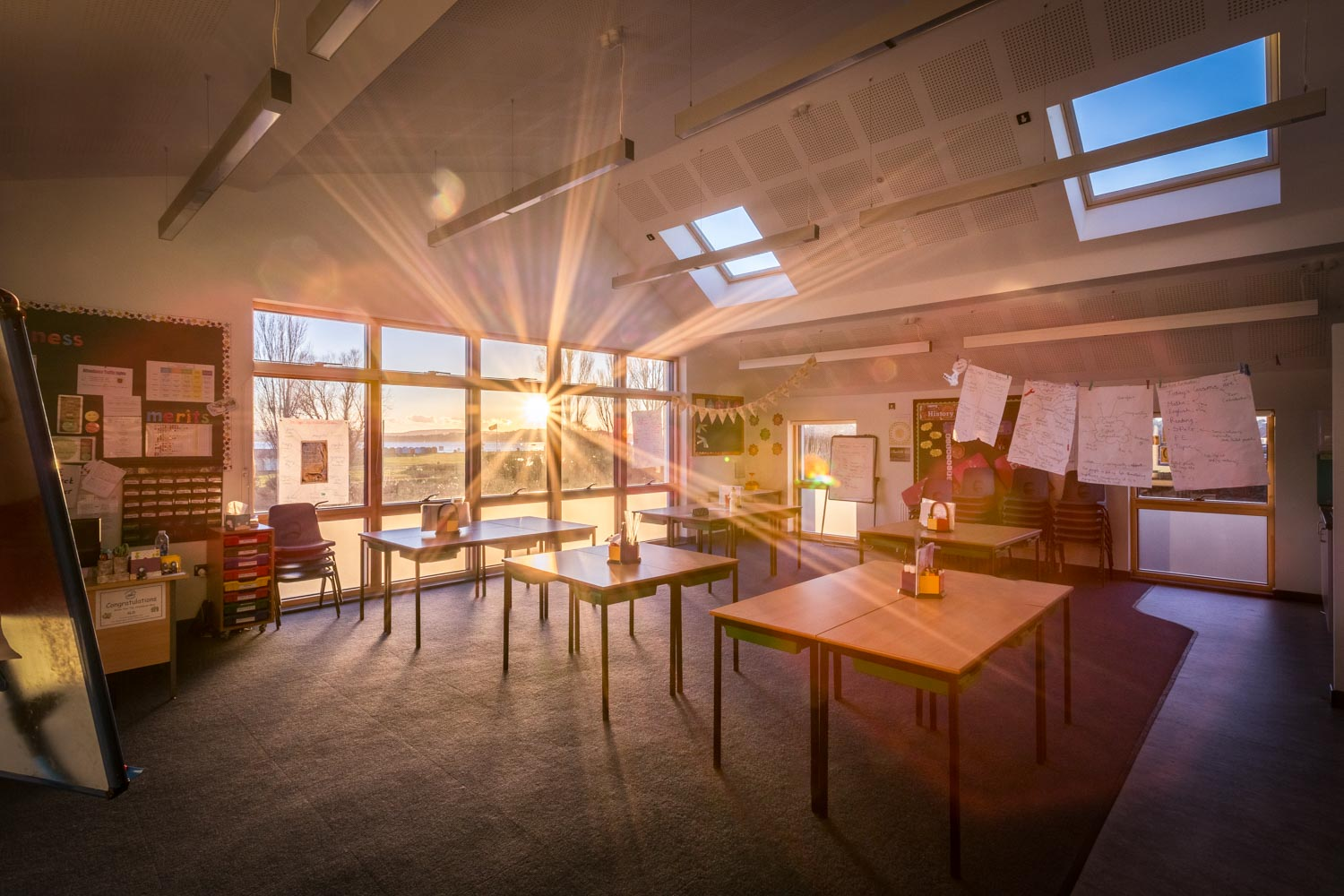 Clasroom in Poole by Rick McEvoy ABIPP Architectural Photographer in Dorset