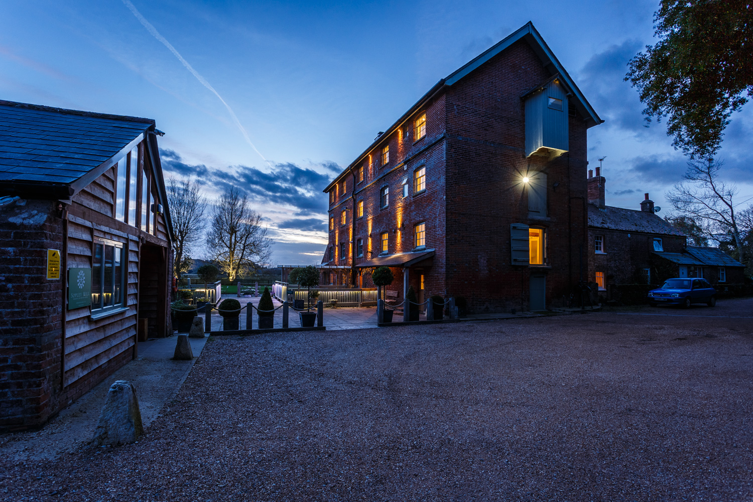 Architectural photography at this Dorset wedding venue, Sopley Mill