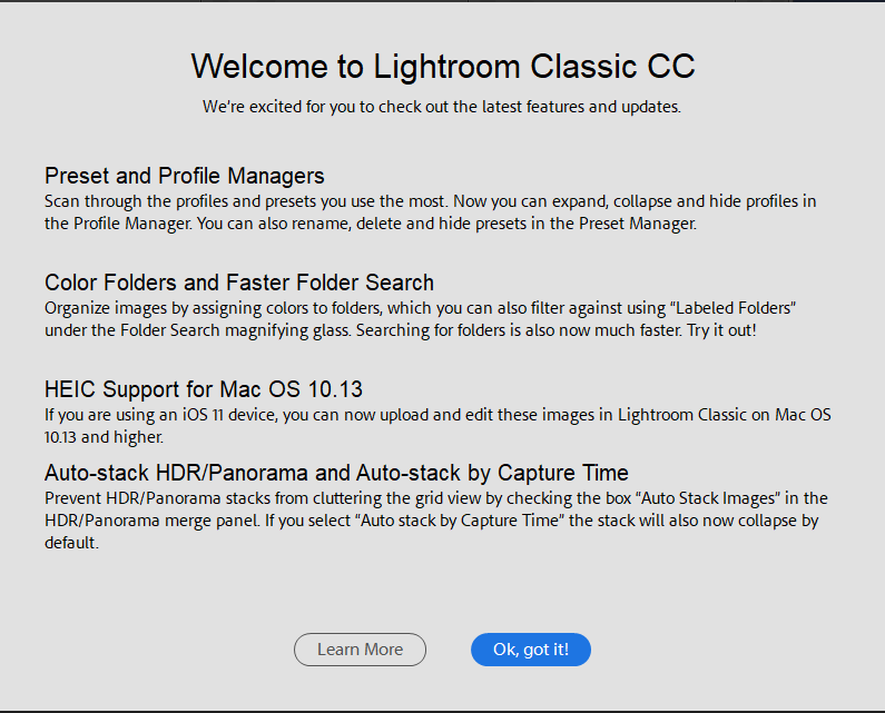 What's new in Lightroom Classic 7.4?