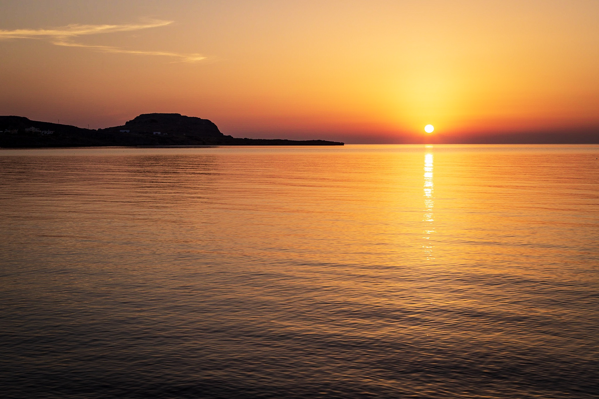 Greek sunrise by Rick McEvoy Travel Photographer