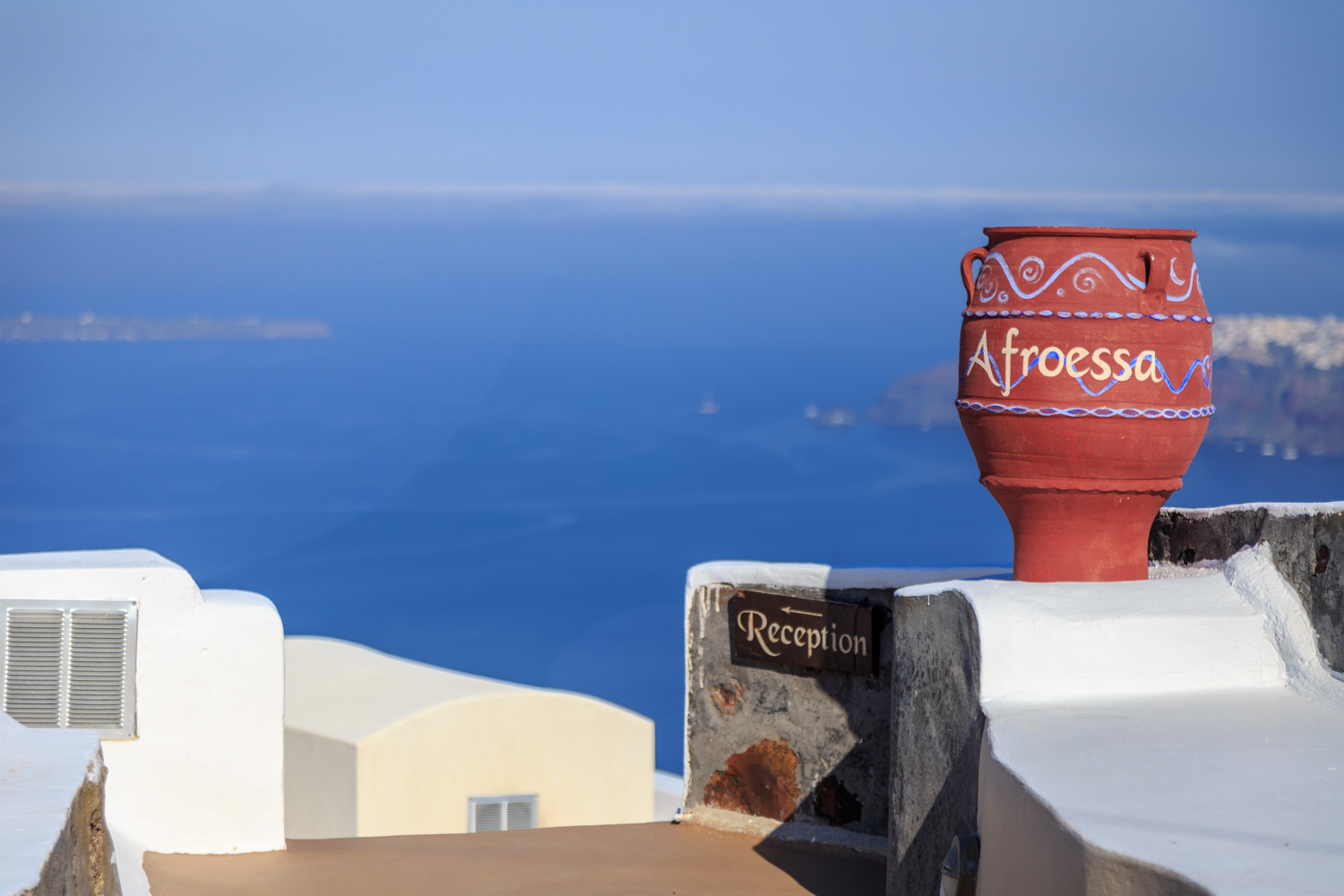 One of the many lovely hotels in Santorini