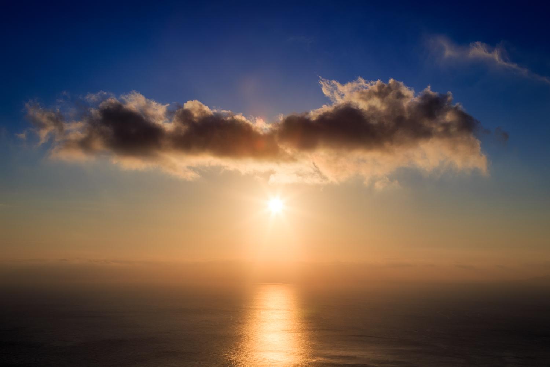 Sunrise on the lovely Greek Island of Santorini