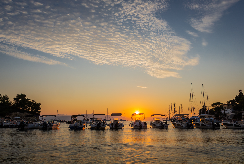 Sunrise in Paxos by Rick McEvoy