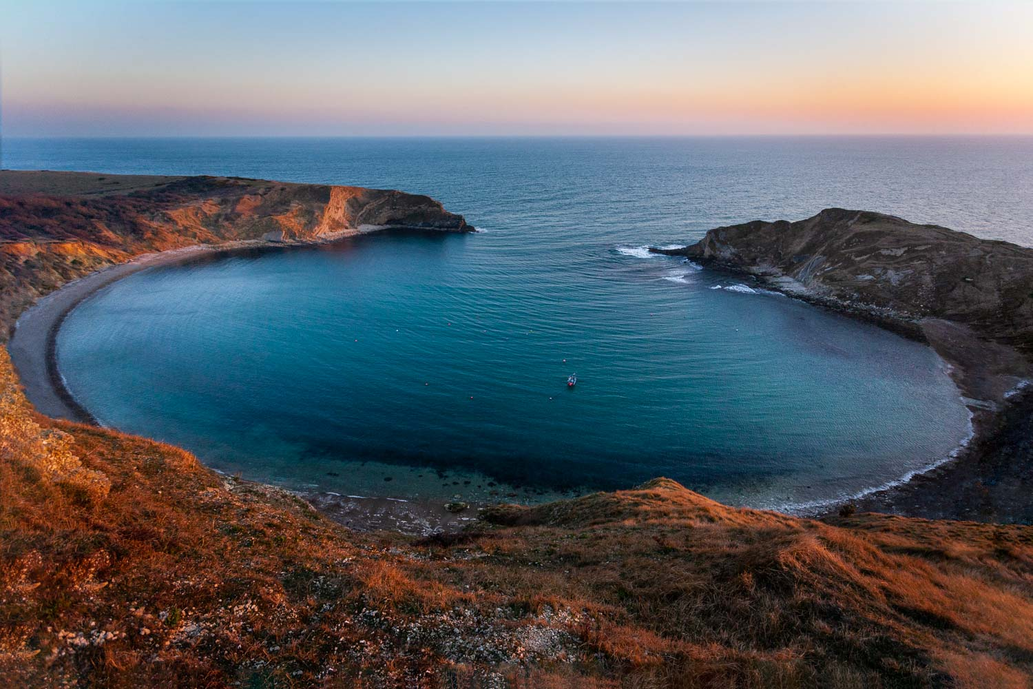Lulworth Cove in Dorset by Rick McEvoy