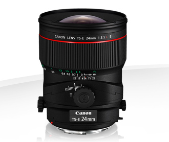Canon 24mm tilit shift lens